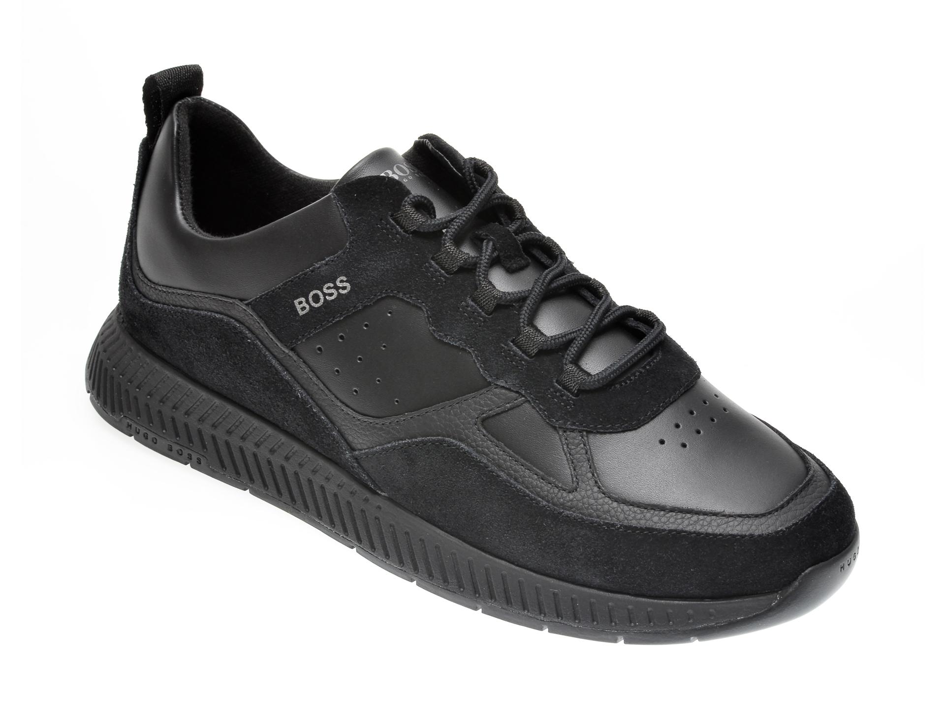 Pantofi HUGO BOSS negri, 763, din piele naturala imagine