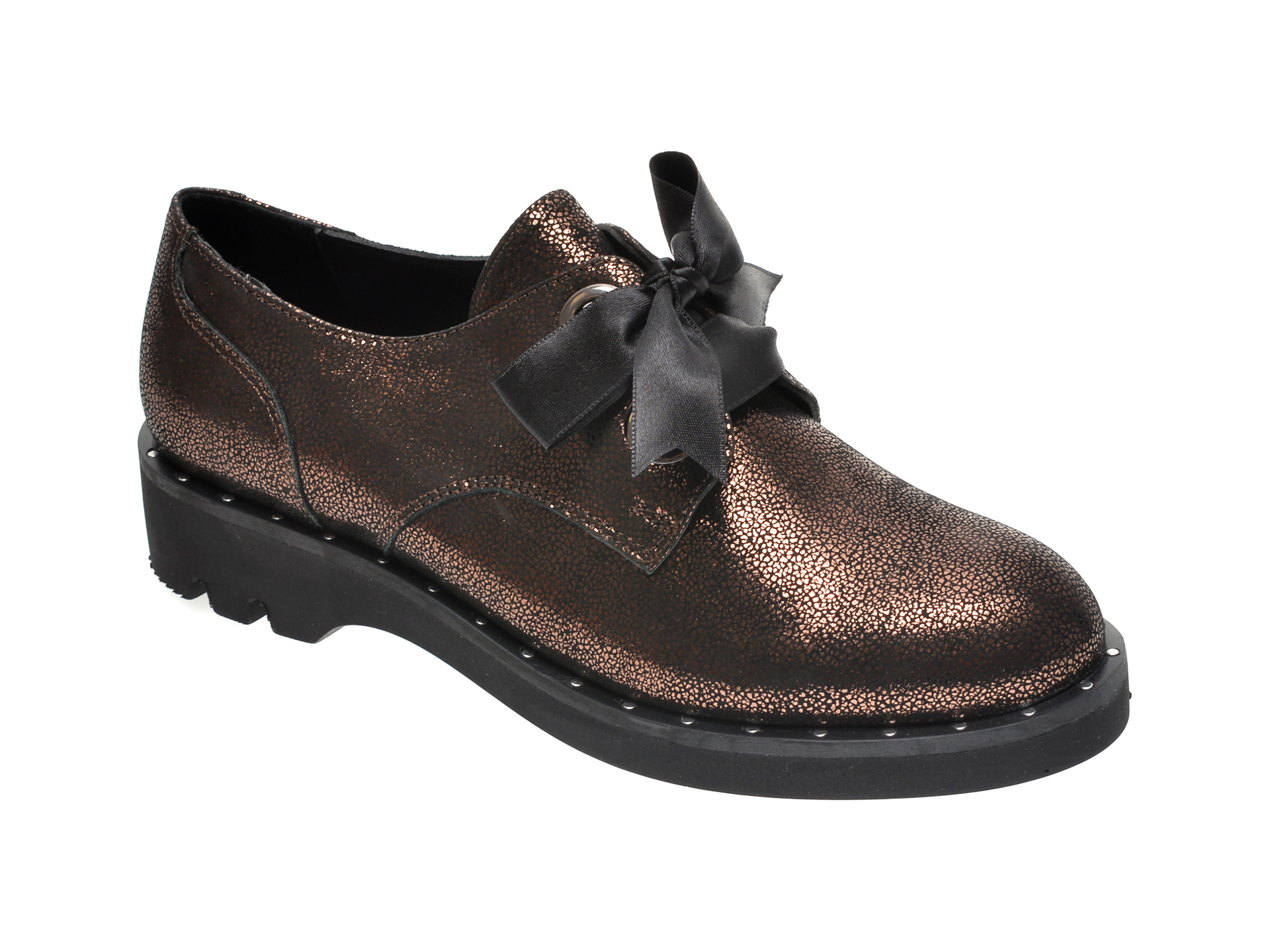 Pantofi ILOZ bronz, 107393, din piele naturala imagine
