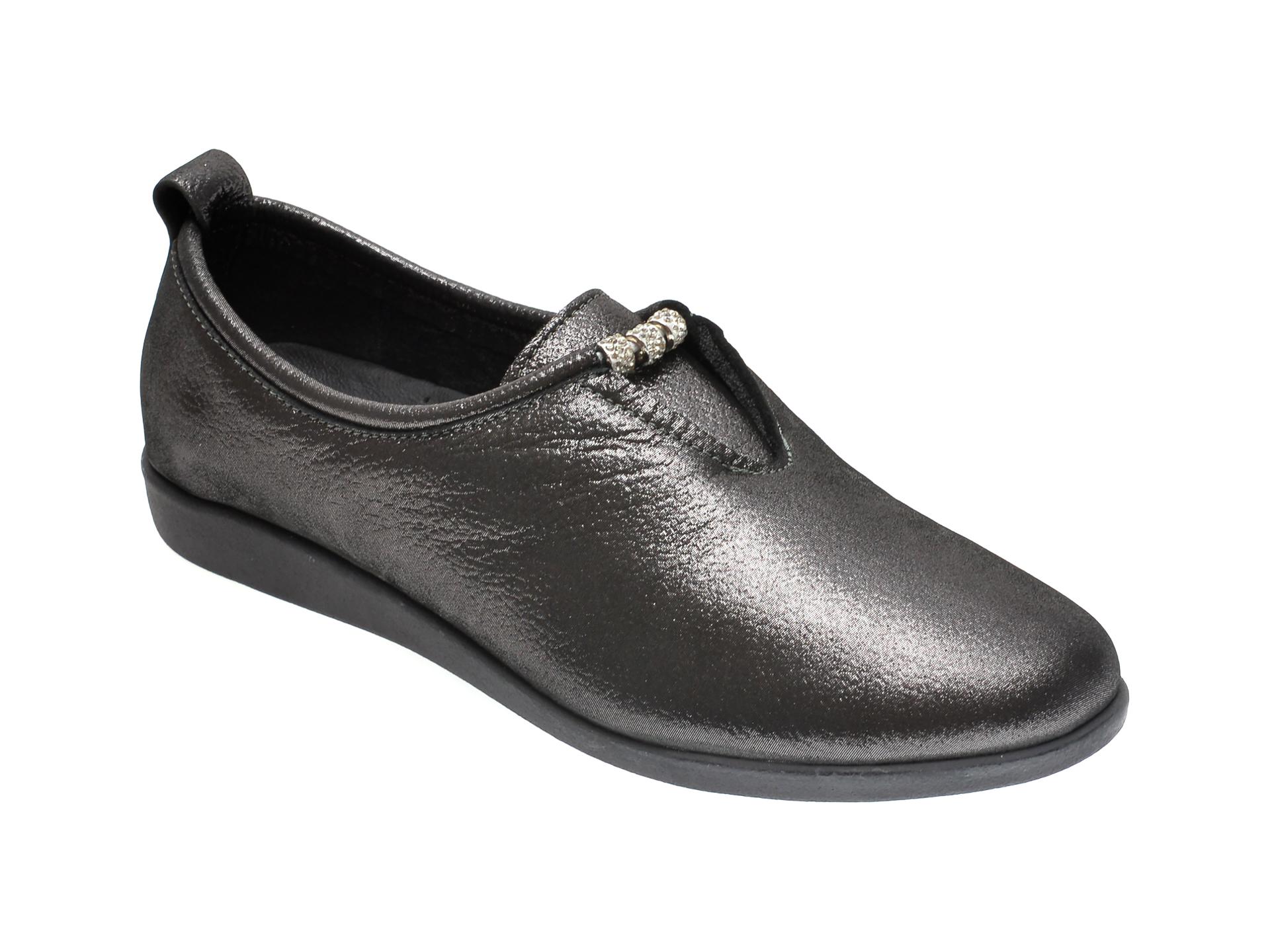 Pantofi ILOZ gri, 120, din piele naturala imagine