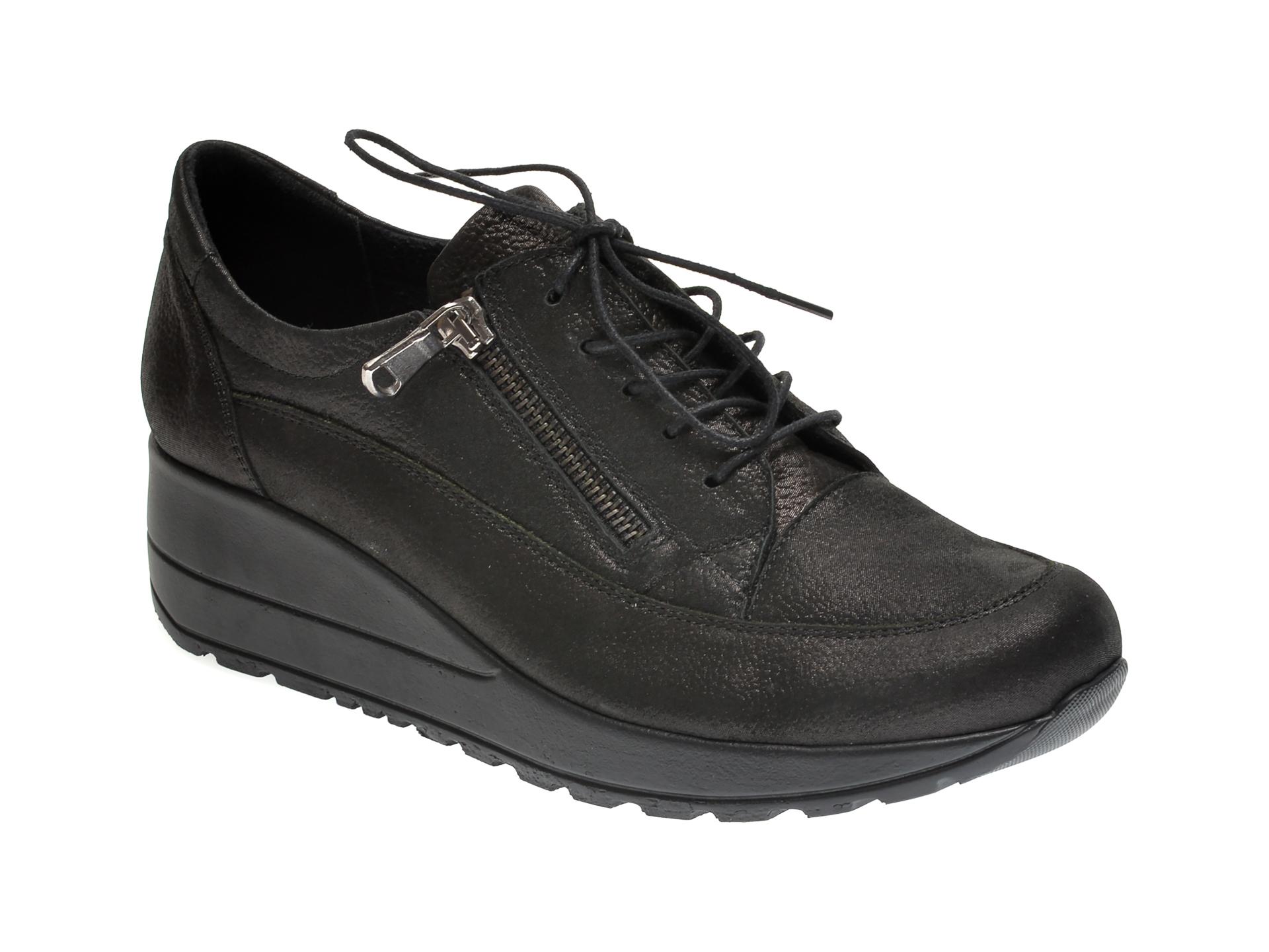 Pantofi ILOZ gri, 9217, din piele naturala imagine