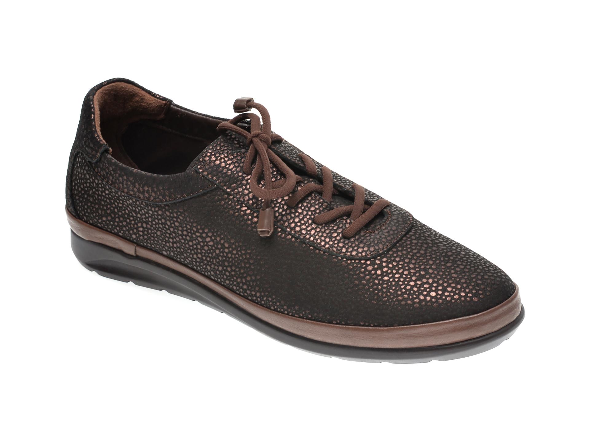 Pantofi ILOZ maro, 6354, din piele naturala imagine