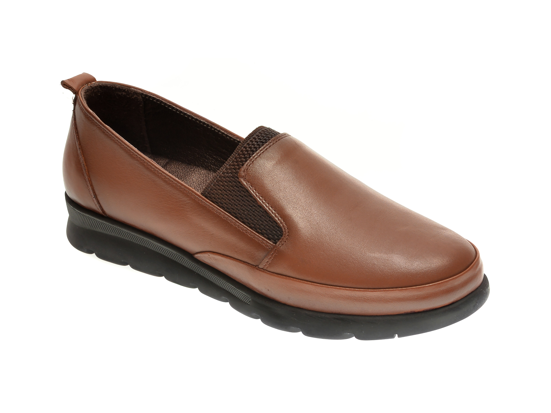 Pantofi ILOZ maro, 740, din piele naturala imagine