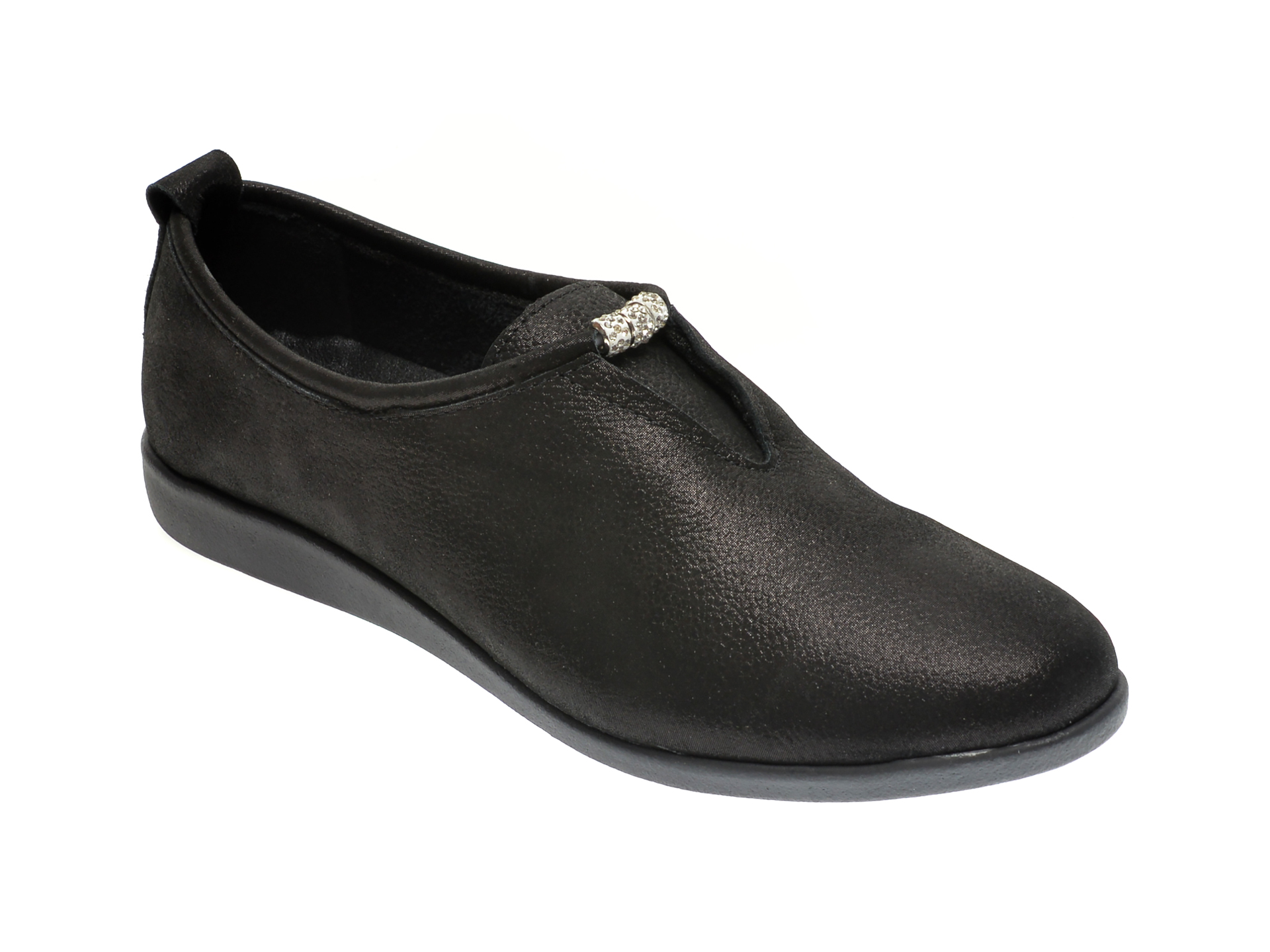 Pantofi ILOZ negri, 120, din piele naturala imagine