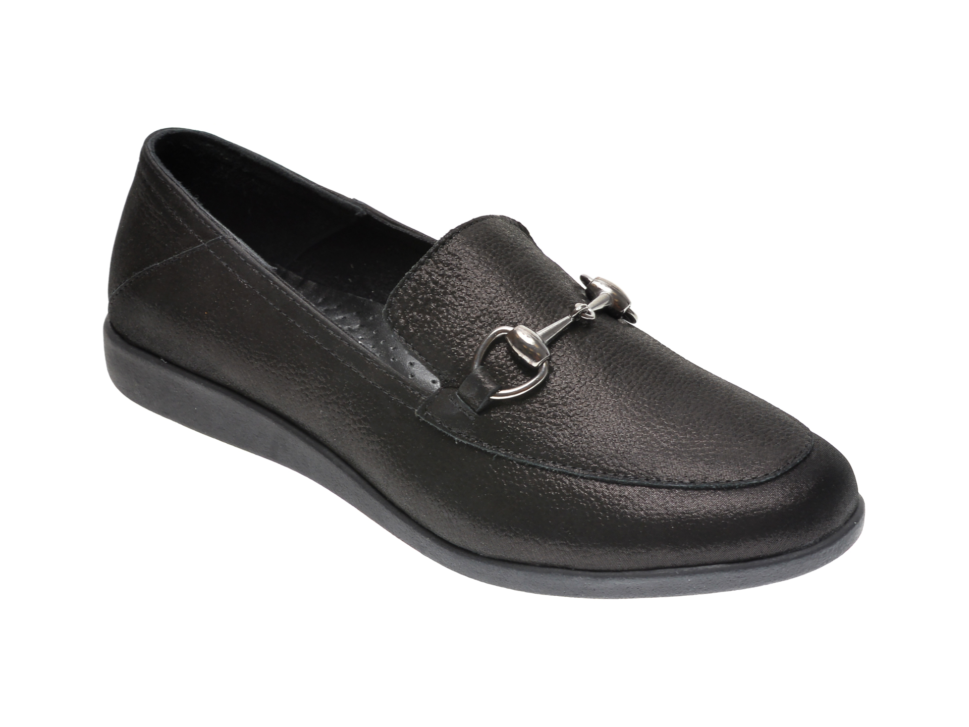 Pantofi ILOZ negri, 1, din piele naturala imagine
