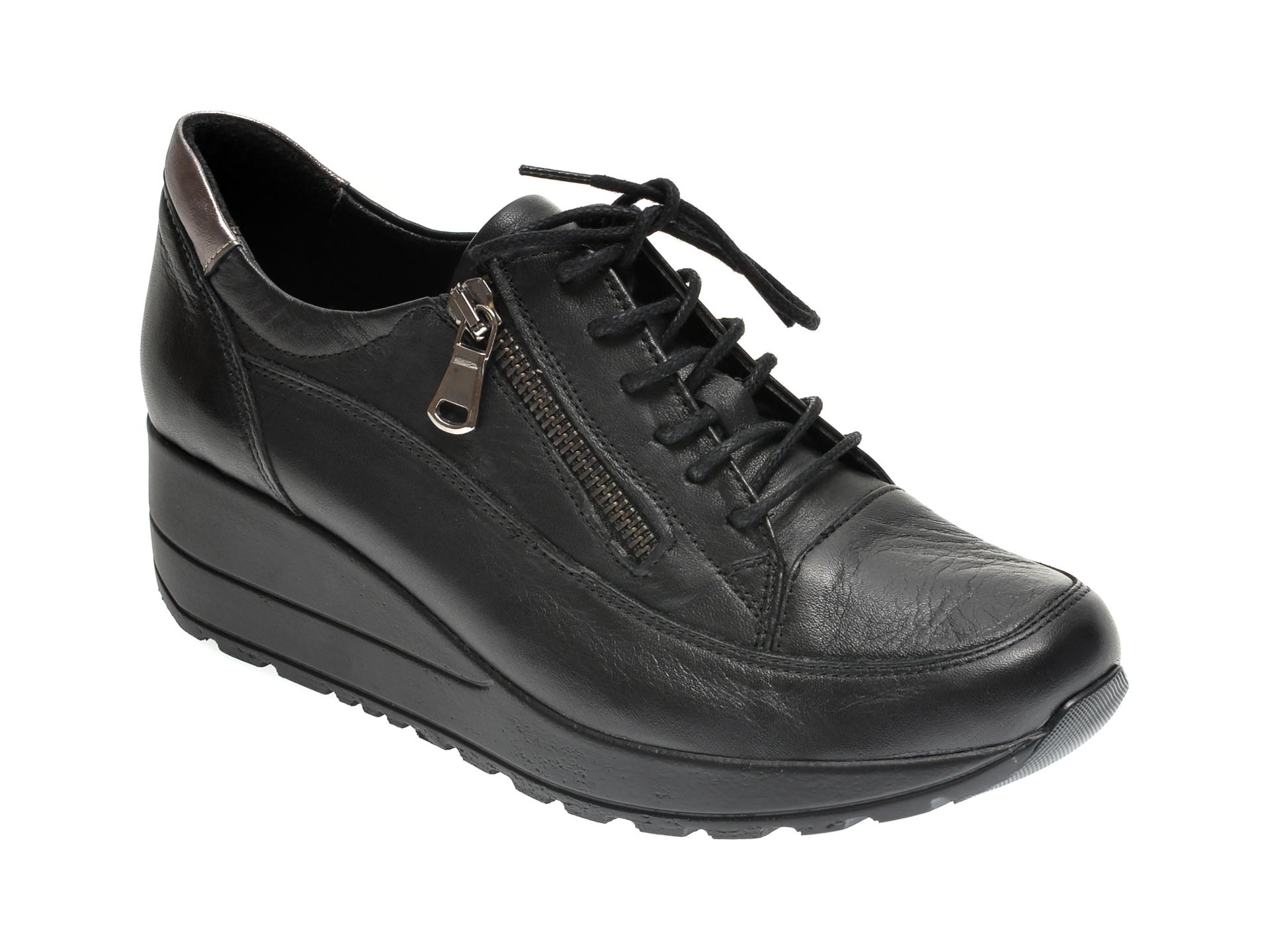 Pantofi ILOZ negri, 213, din piele naturala imagine