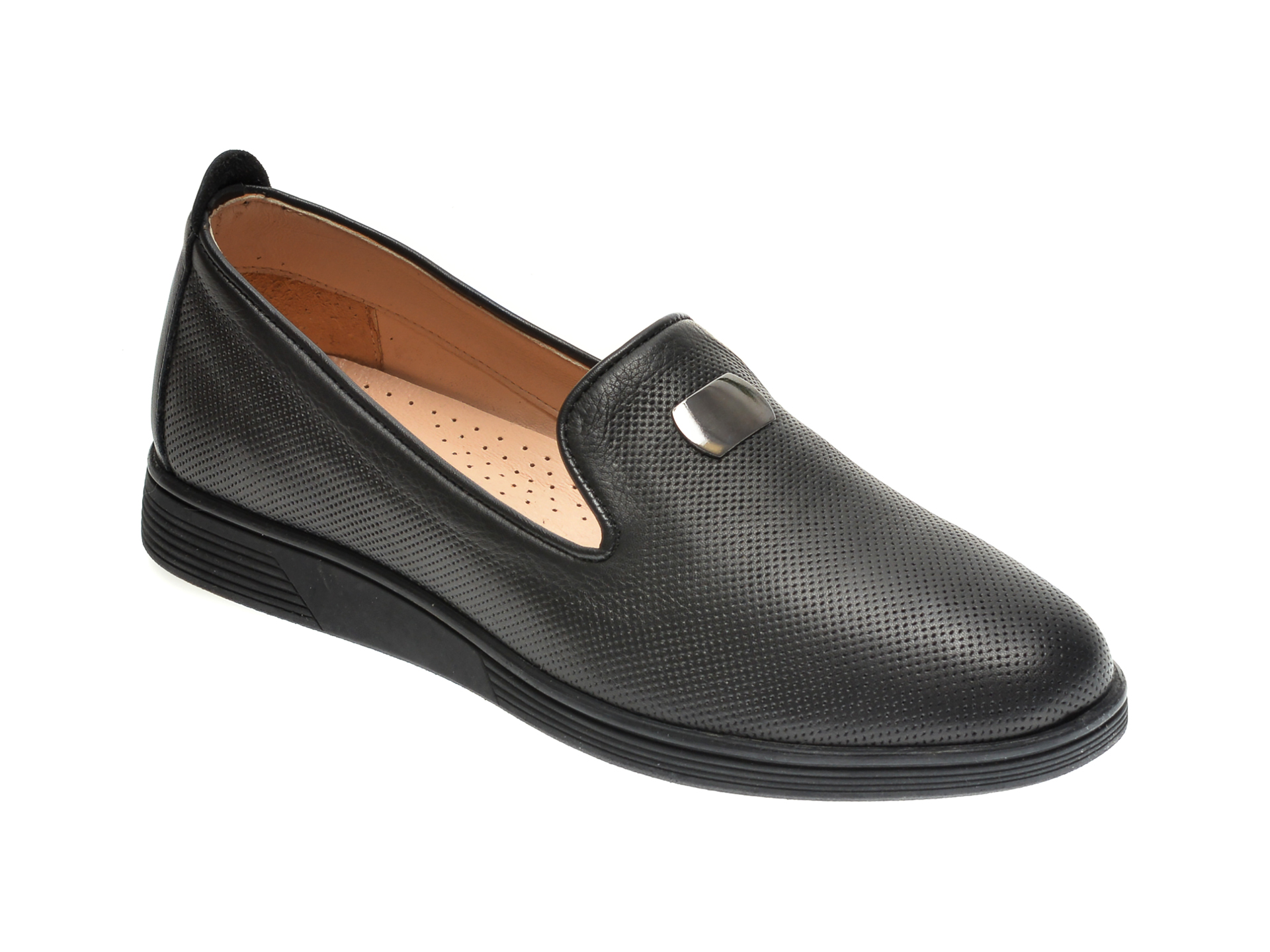 Pantofi ILOZ negri, 3, din piele naturala imagine