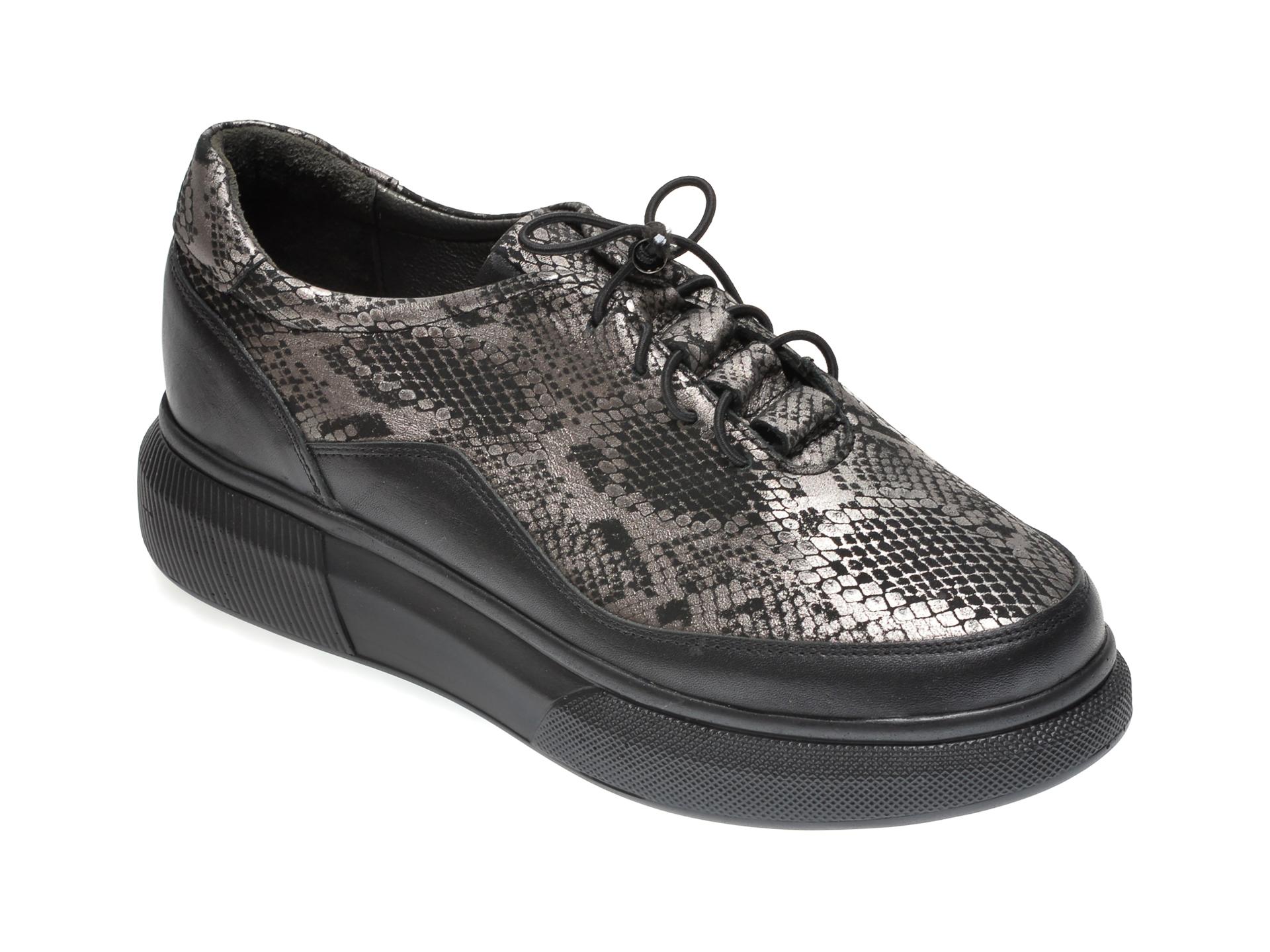 Pantofi ILOZ negri, 592028, din piele naturala imagine