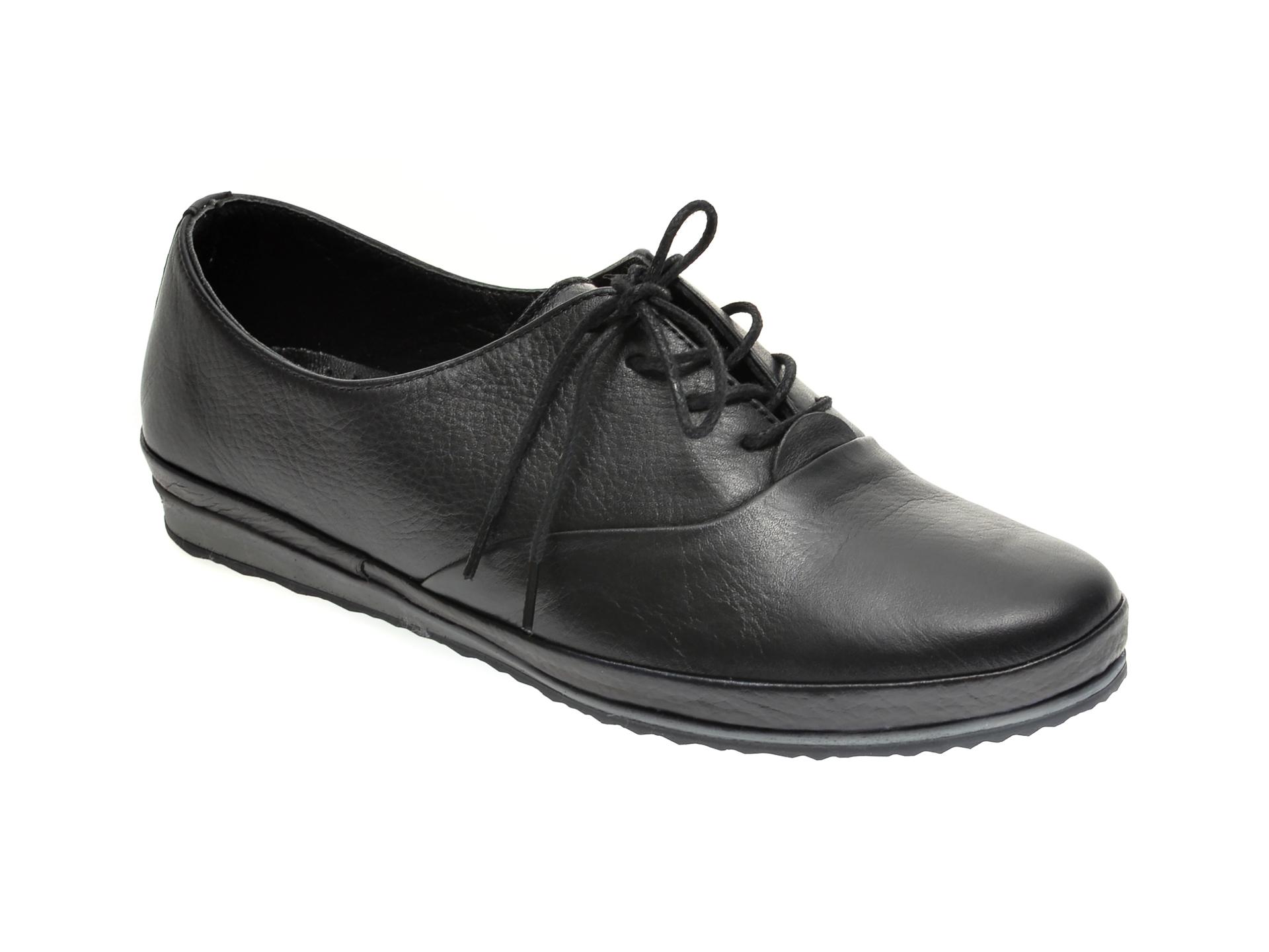 Pantofi ILOZ negri, 6005, din piele naturala imagine otter.ro