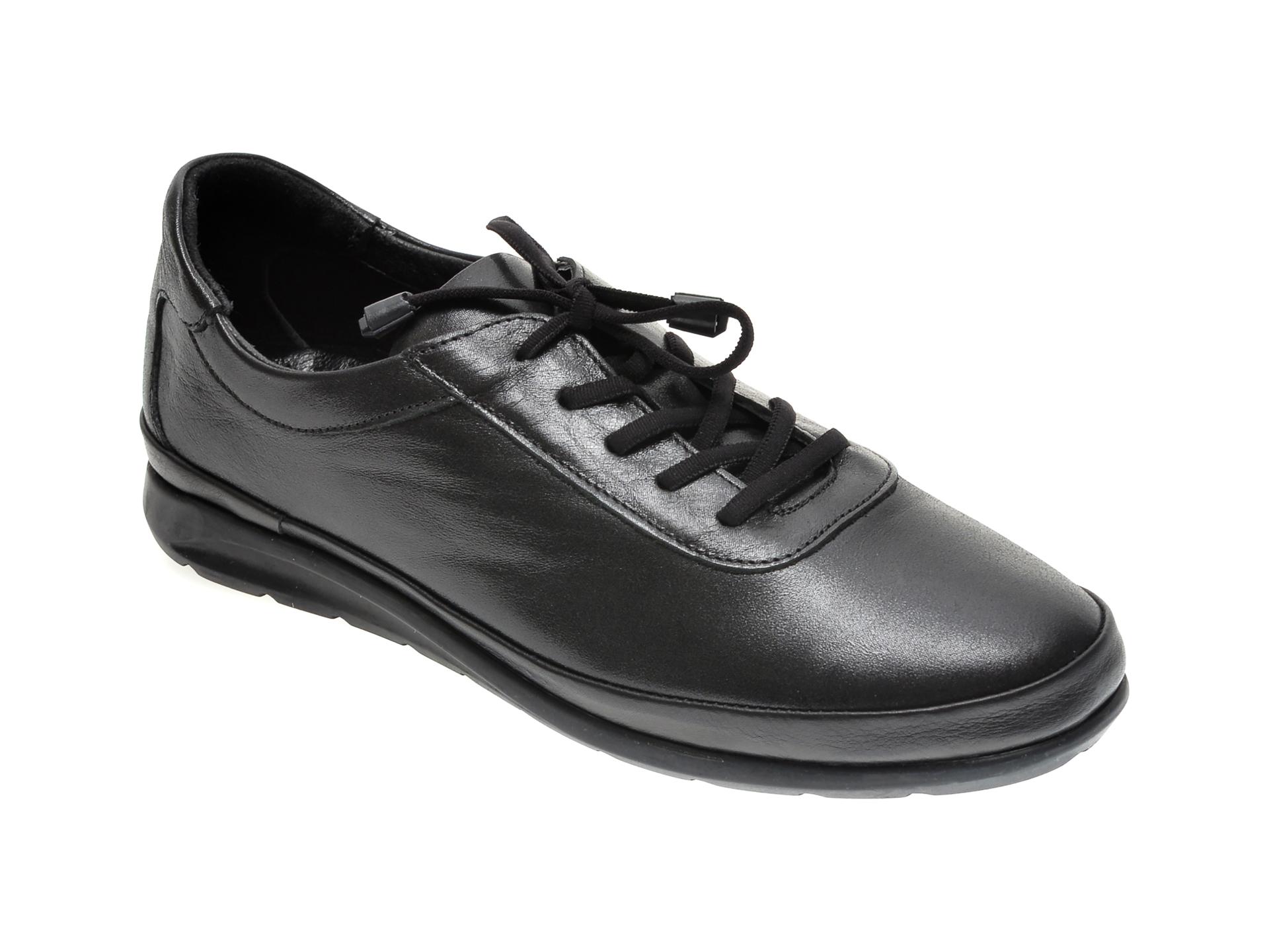 Pantofi ILOZ negri, 6354, din piele naturala imagine