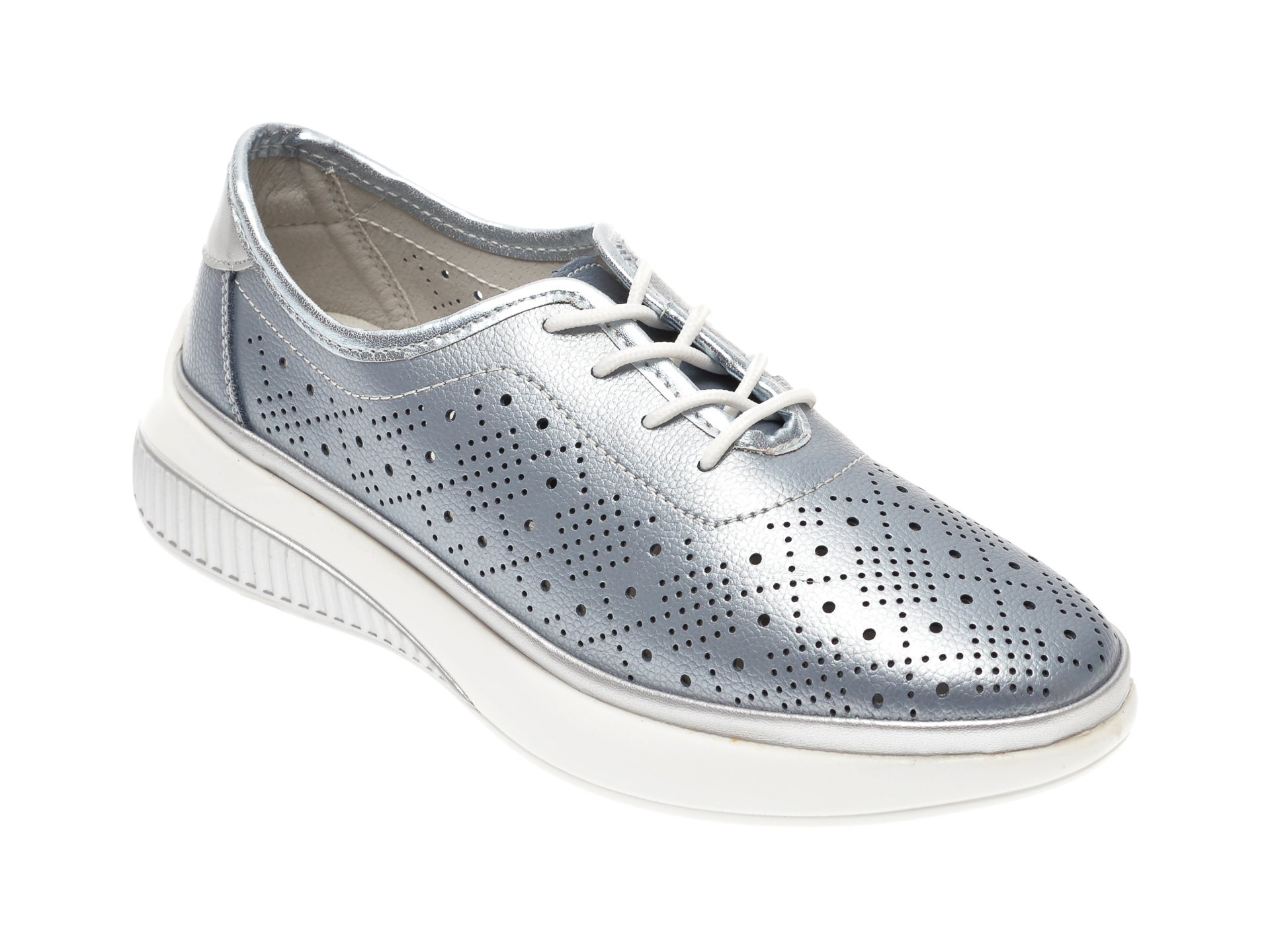 Pantofi IMAGE albastri, 807, din piele naturala imagine