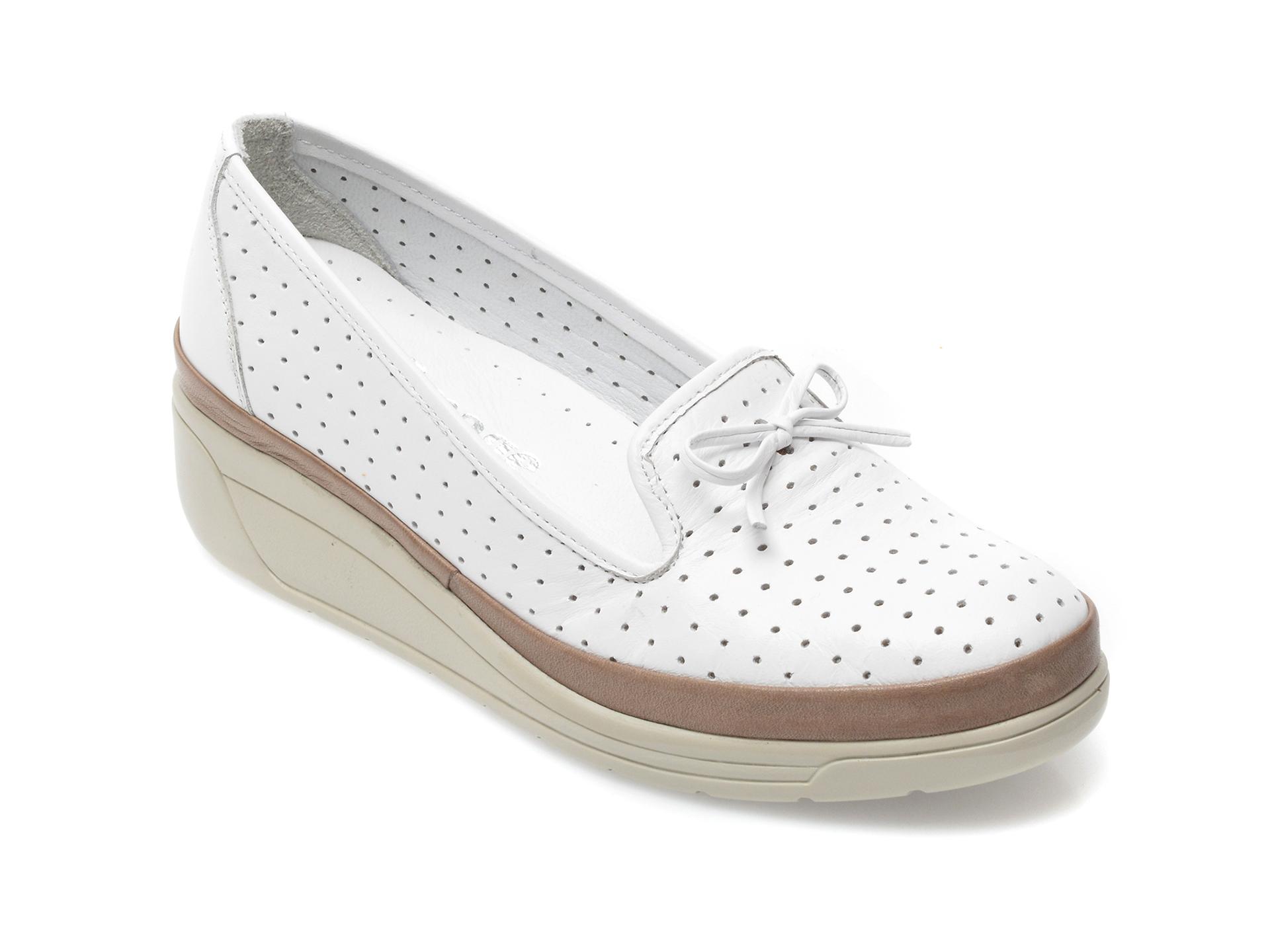 Pantofi IMAGE albi, 1543502, din piele naturala imagine otter.ro 2021
