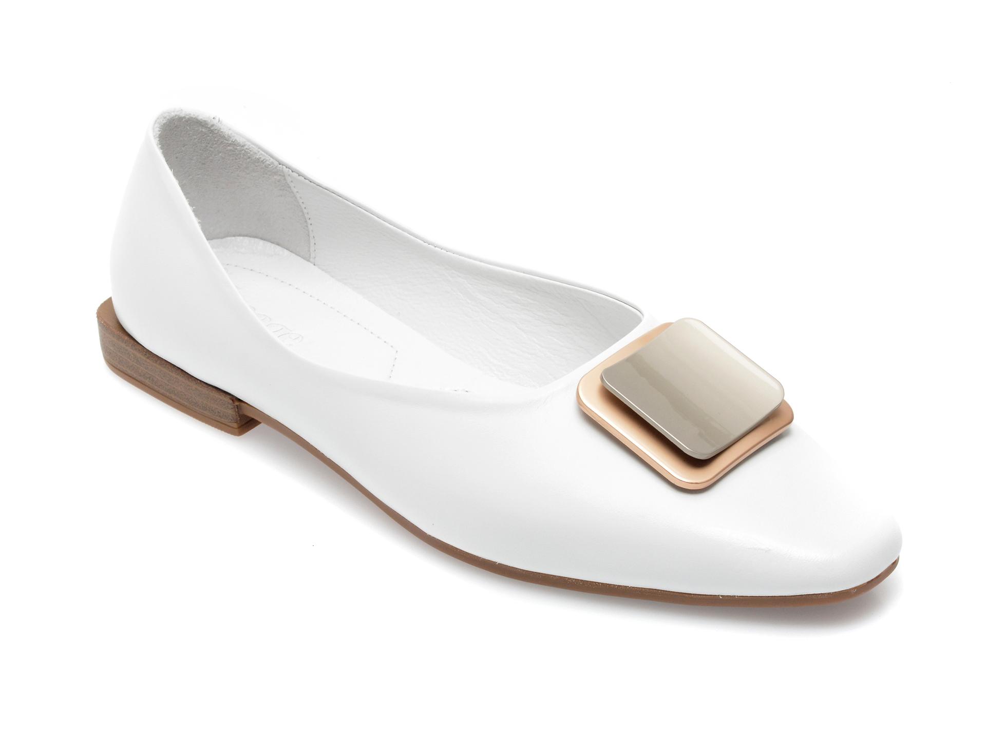 Pantofi IMAGE albi, 171721, din piele naturala imagine otter.ro 2021