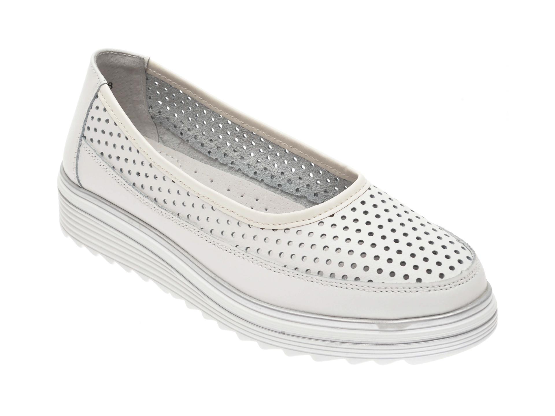 Pantofi IMAGE albi, 805, din piele naturala imagine