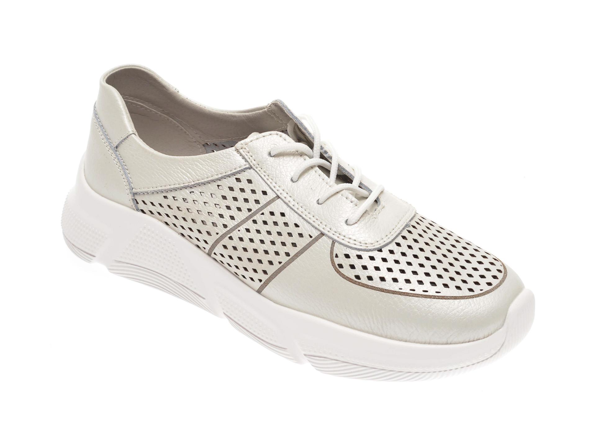 Pantofi IMAGE albi, 806, din piele naturala imagine