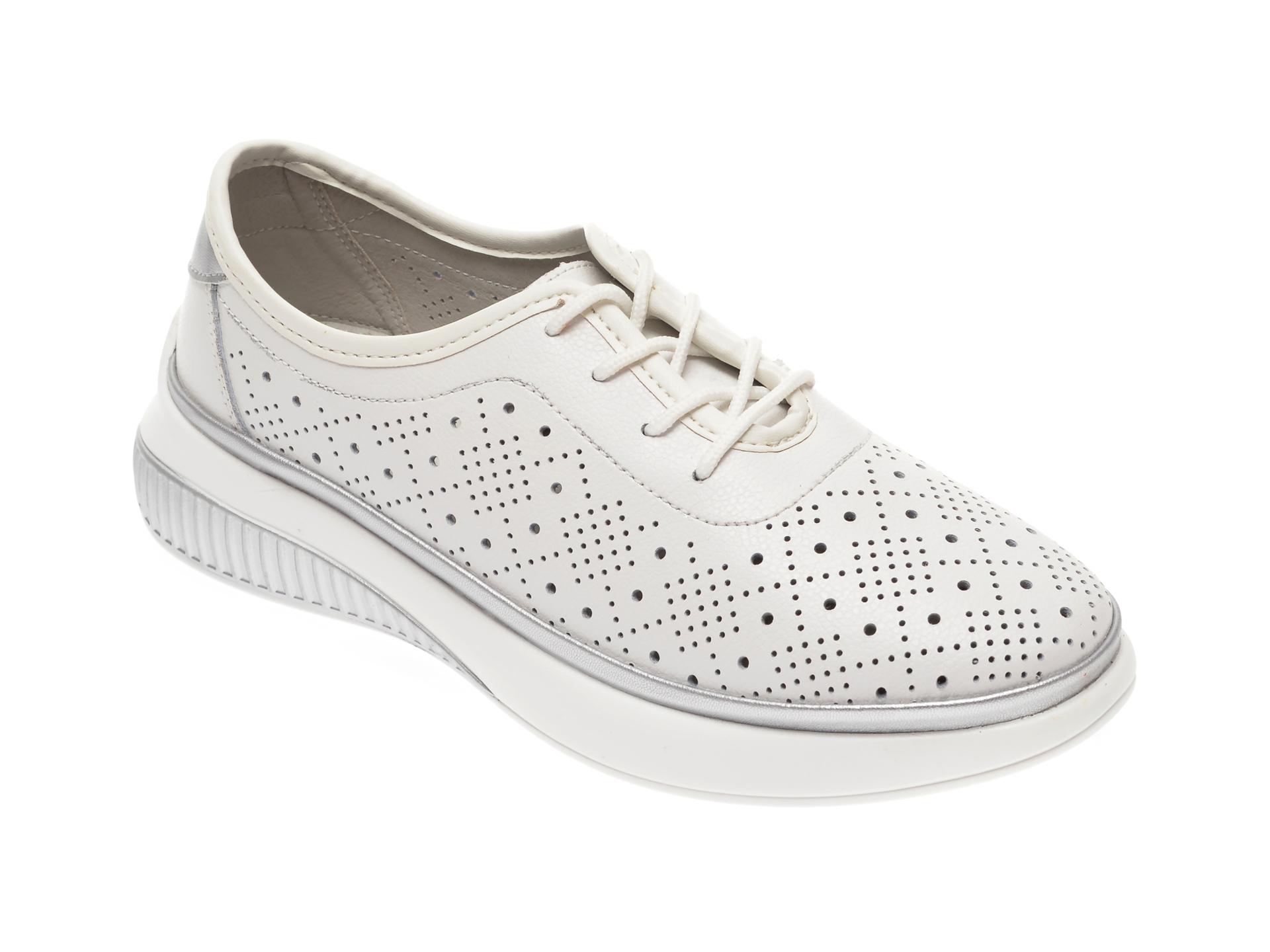 Pantofi IMAGE albi, 807, din piele naturala