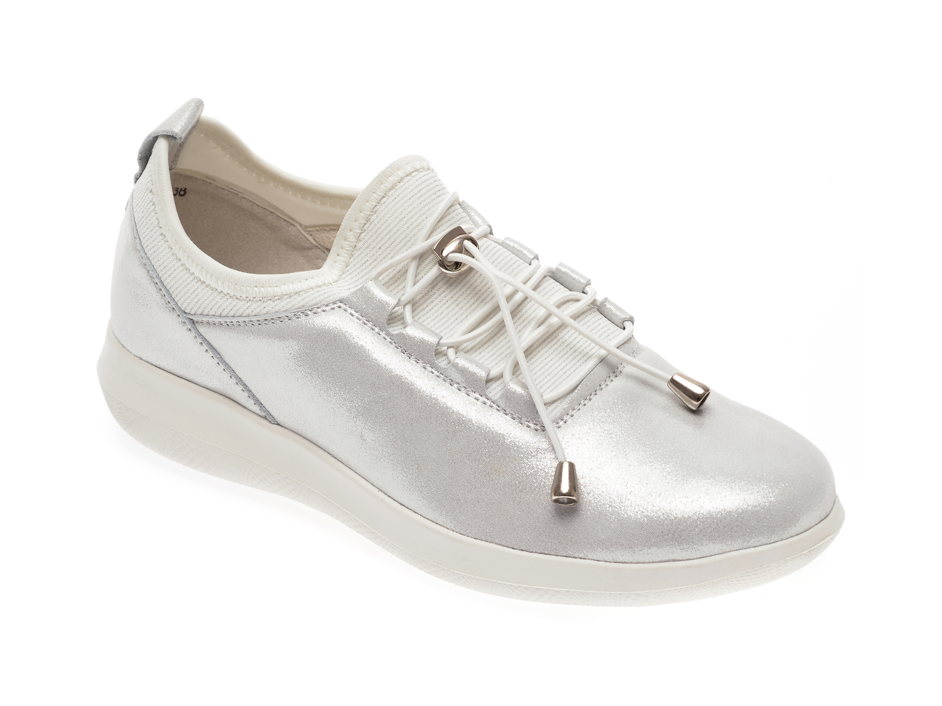 Pantofi IMAGE albi, 8595312, din piele naturala imagine