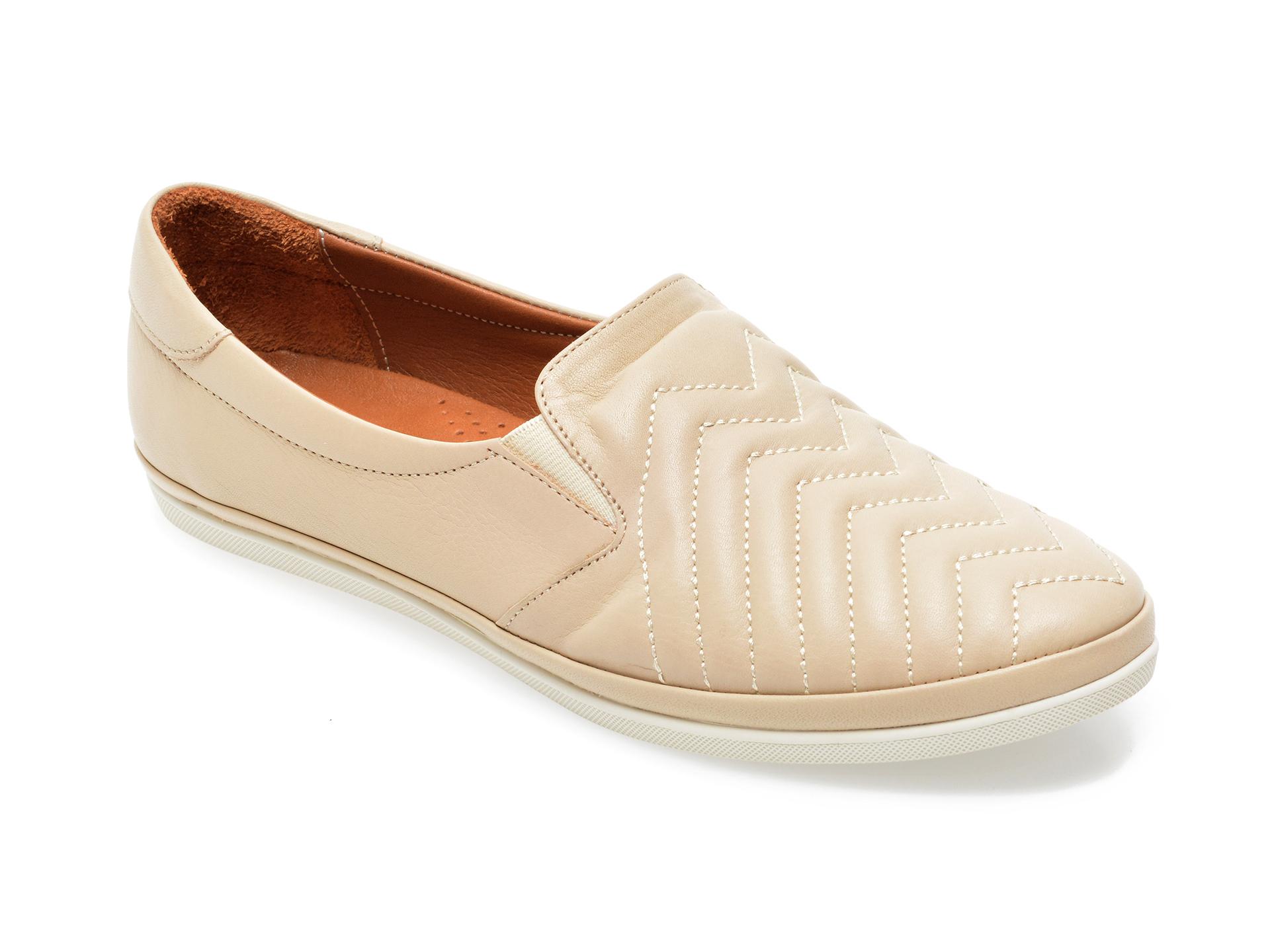 Pantofi IMAGE bej, 120G01, din piele naturala imagine otter.ro 2021