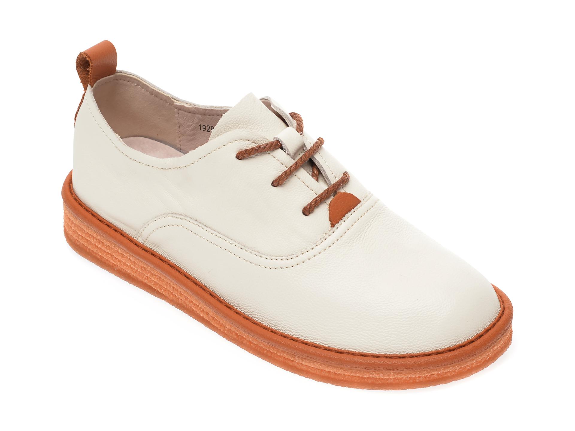Pantofi IMAGE bej, 1928, din piele naturala imagine