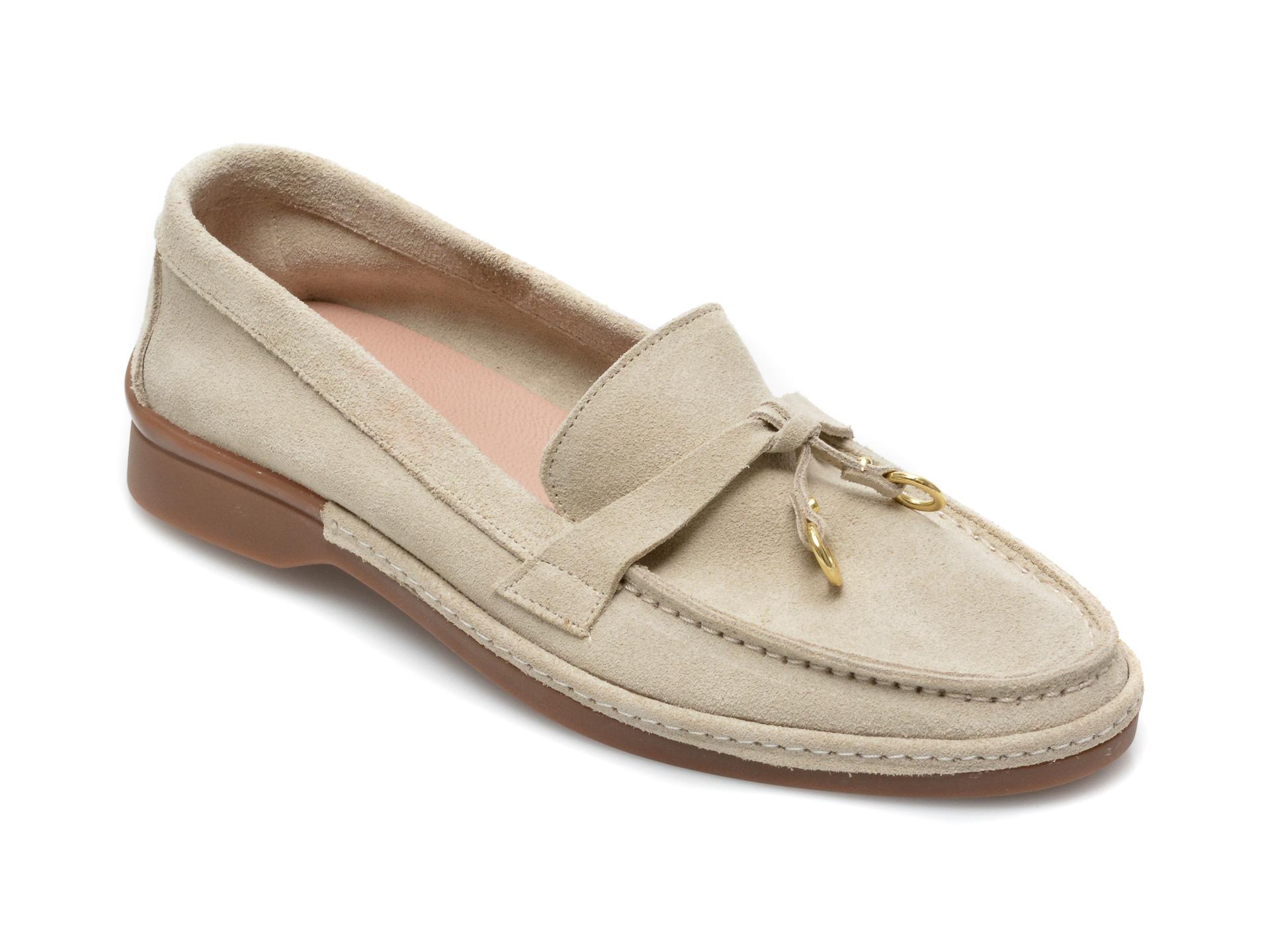 Pantofi IMAGE bej, 838, din piele intoarsa imagine otter.ro 2021