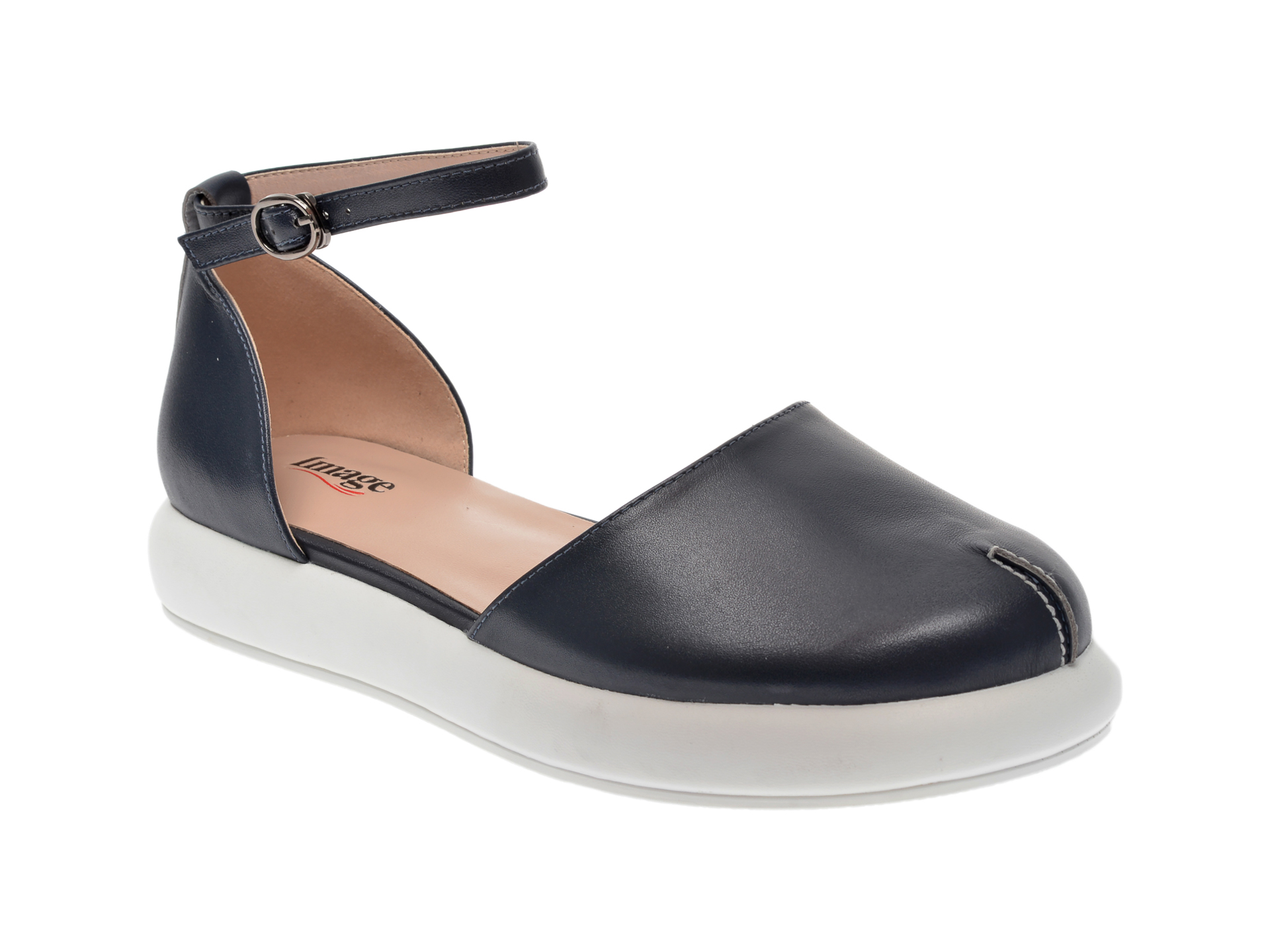 Pantofi IMAGE bleumarin, CD496Y3, din piele naturala imagine