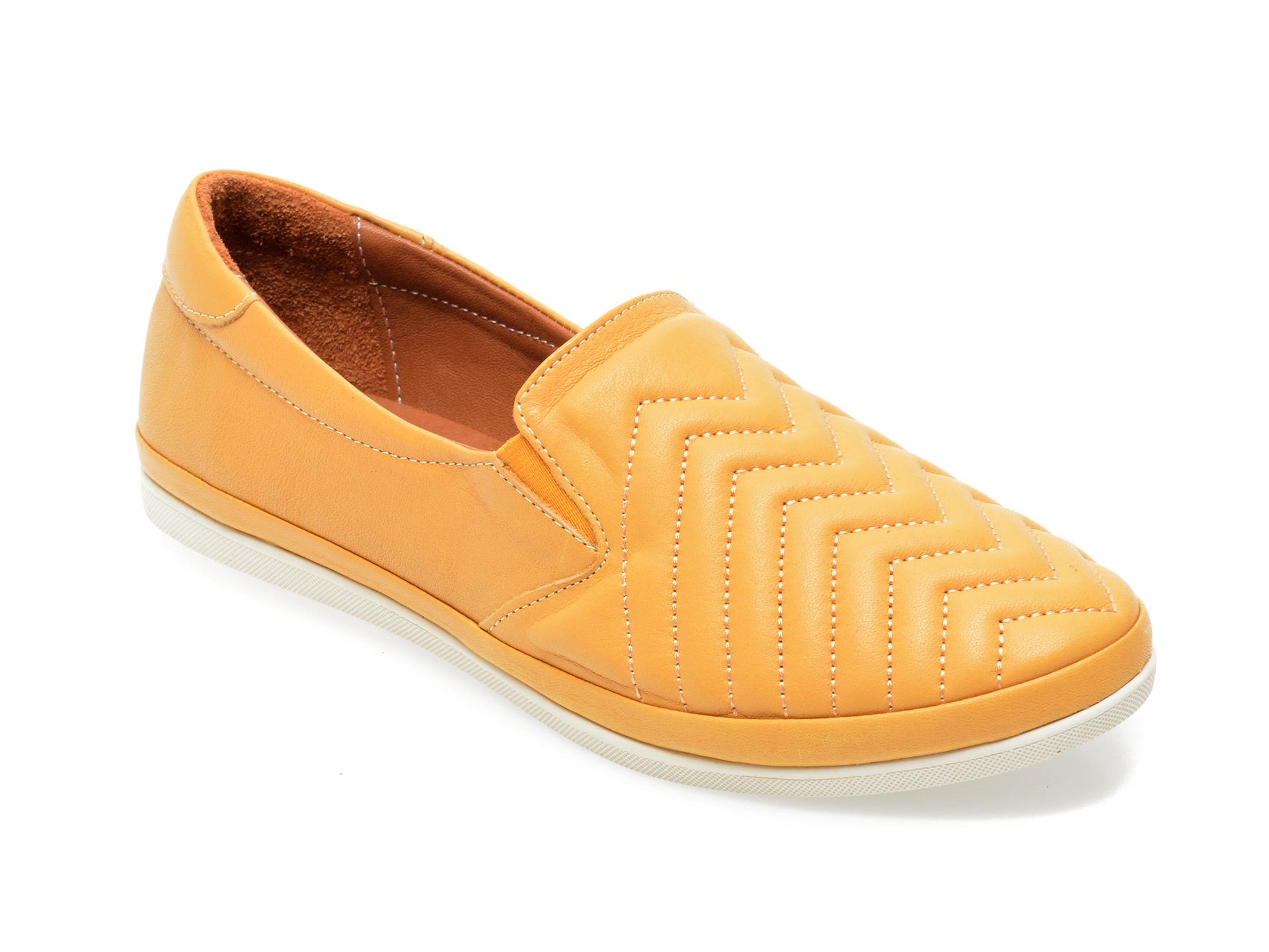 Pantofi IMAGE galbeni, 120G01, din piele naturala imagine otter.ro 2021