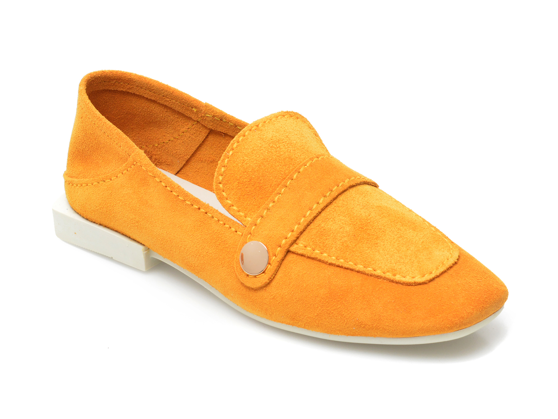 Pantofi IMAGE galbeni, 205101, din piele intoarsa imagine otter.ro 2021
