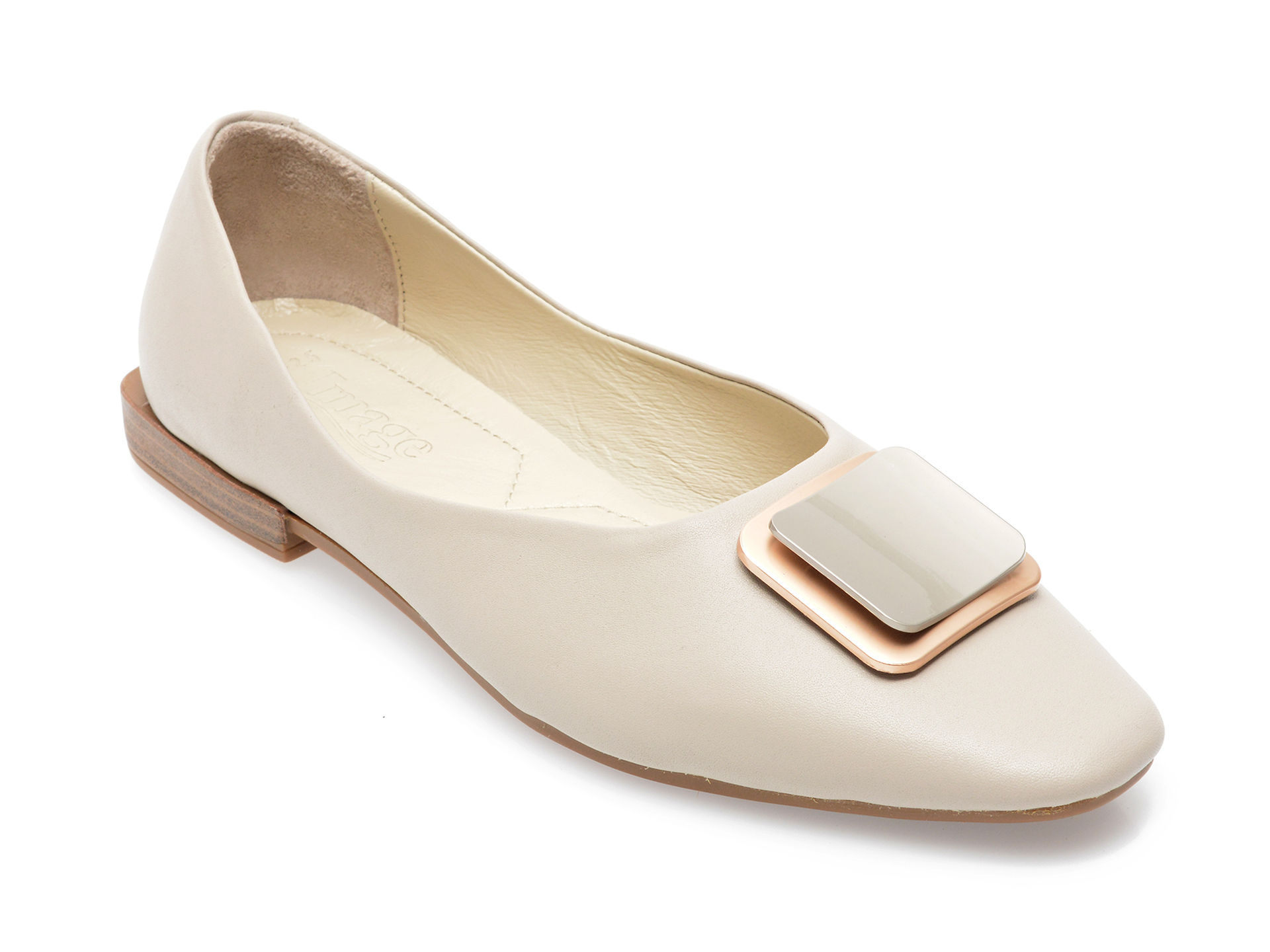 Pantofi IMAGE gri, 171721, din piele naturala imagine otter.ro 2021