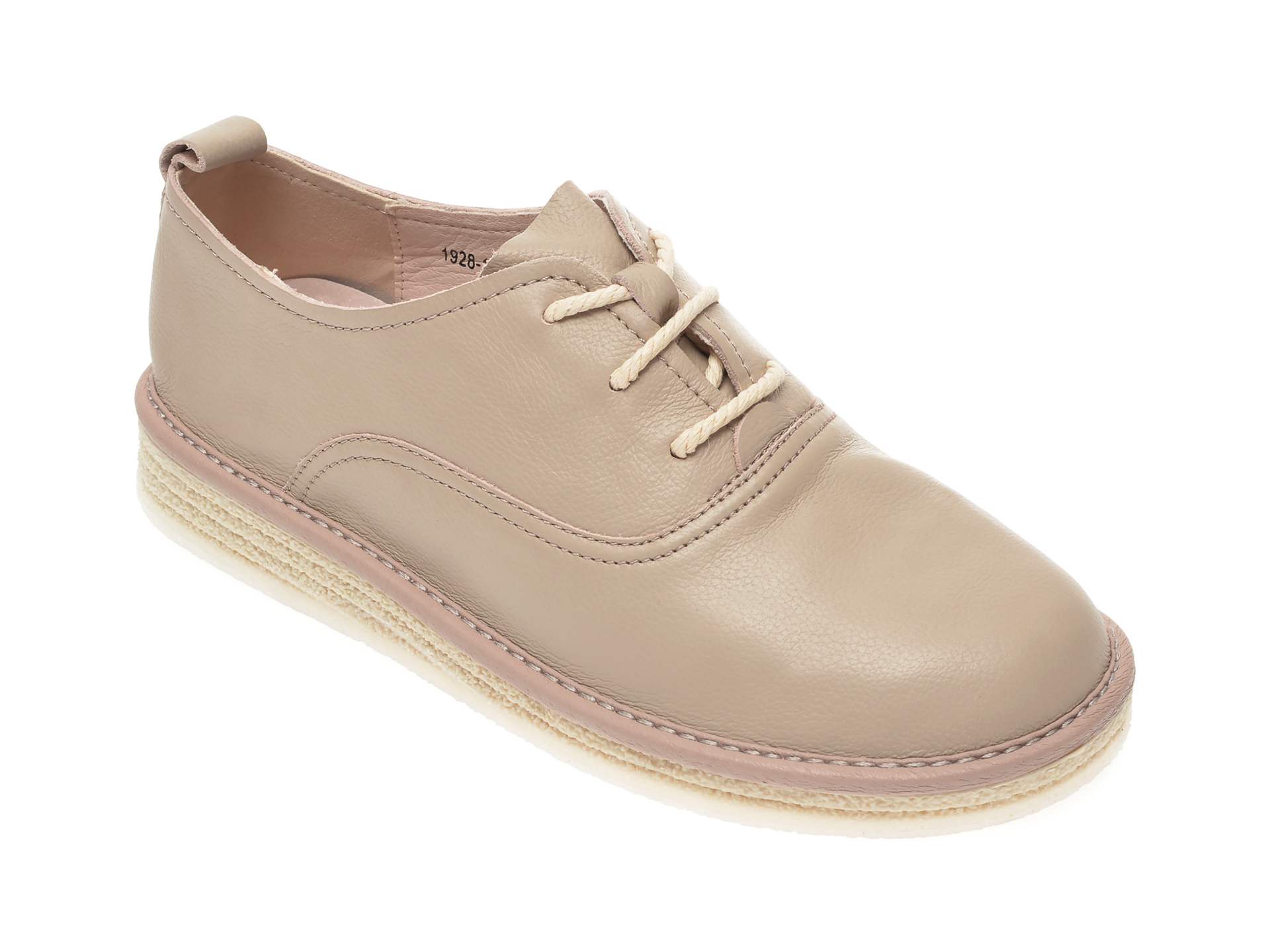 Pantofi IMAGE gri, 1928, din piele naturala