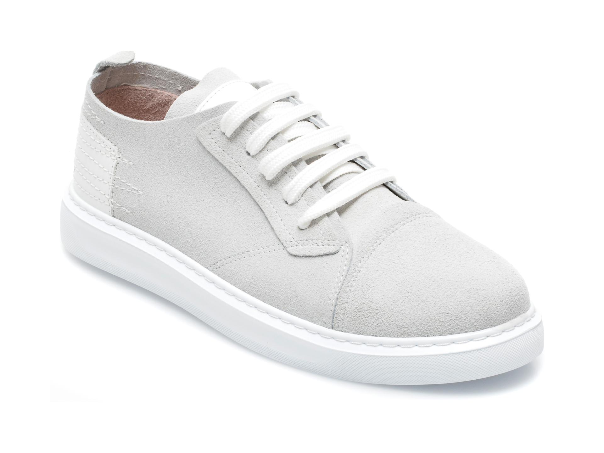 Pantofi IMAGE gri, 89081, din piele intoarsa imagine otter.ro