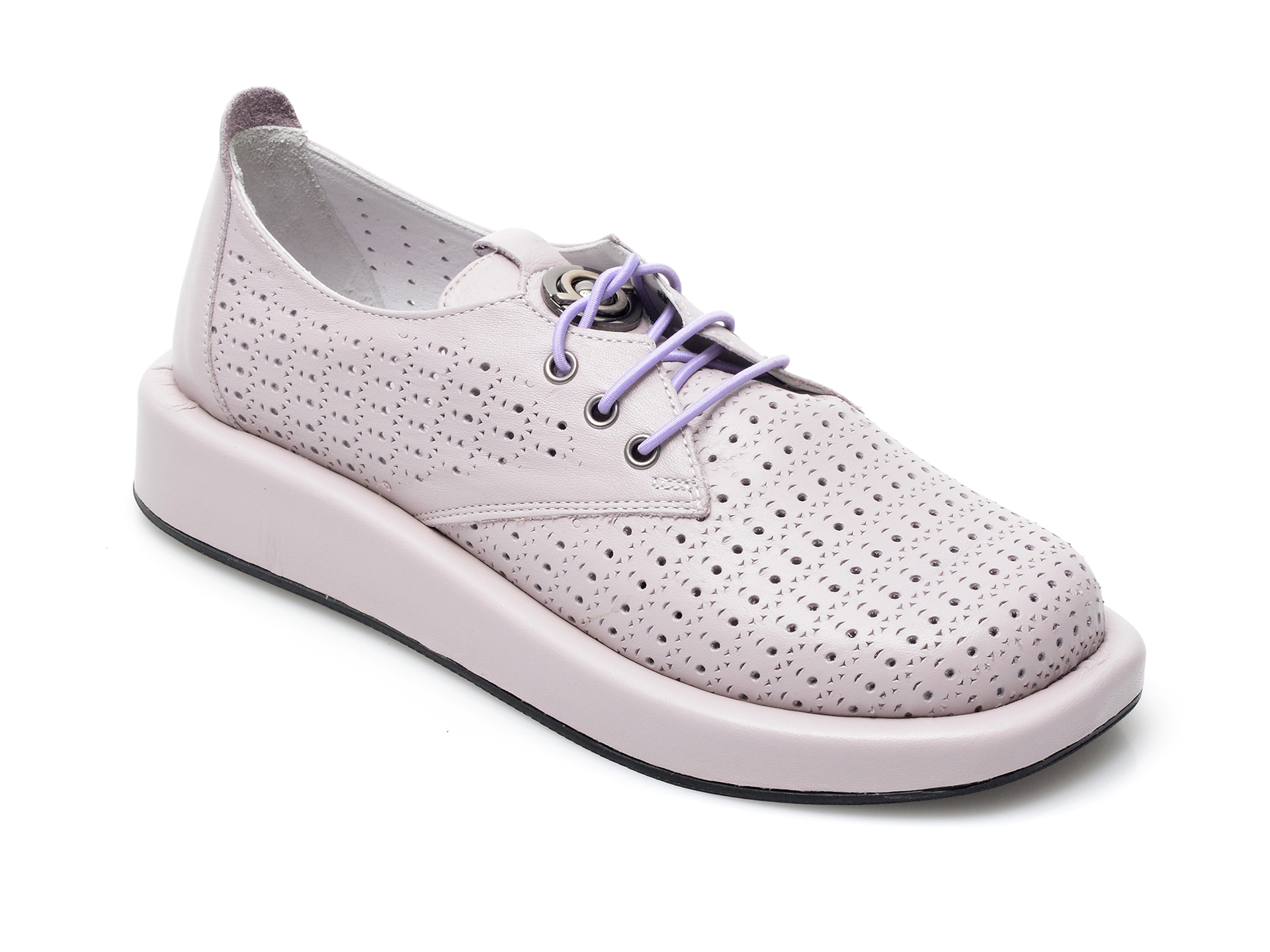 Pantofi IMAGE mov, 622120, din piele naturala imagine otter.ro 2021