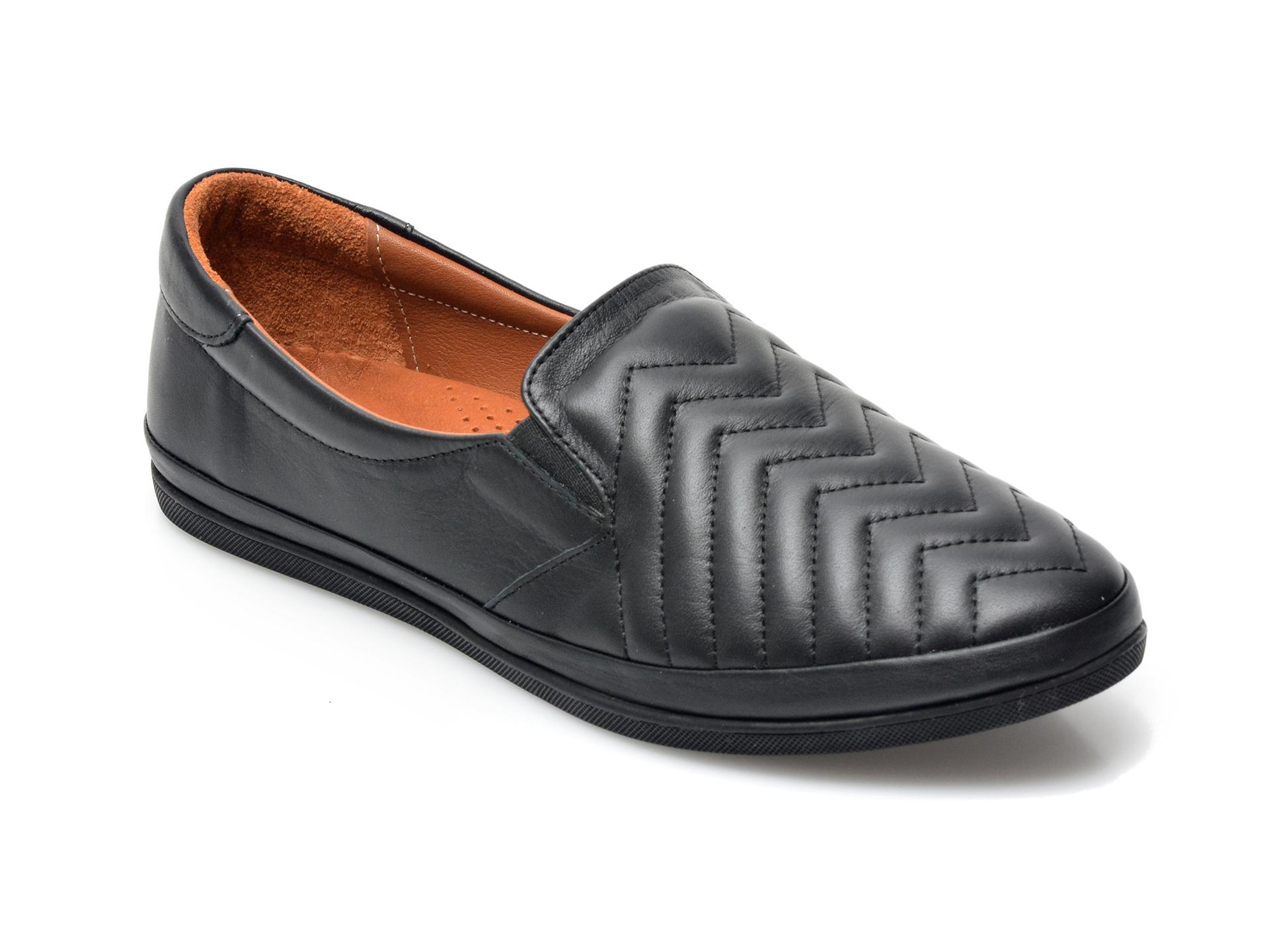 Pantofi IMAGE negri, 120G01, din piele naturala imagine otter.ro 2021