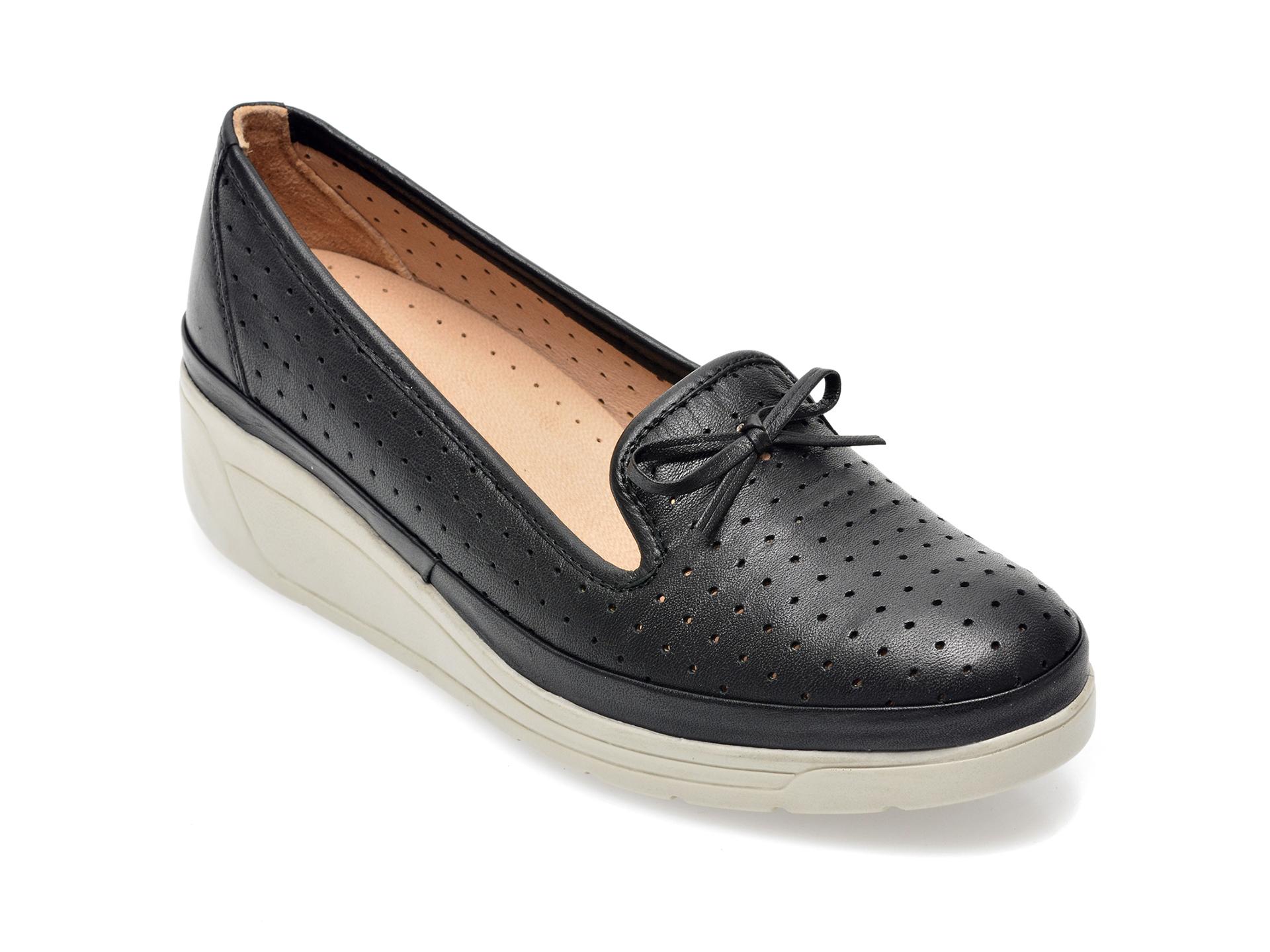 Pantofi IMAGE negri, 1543502, din piele naturala imagine otter.ro 2021