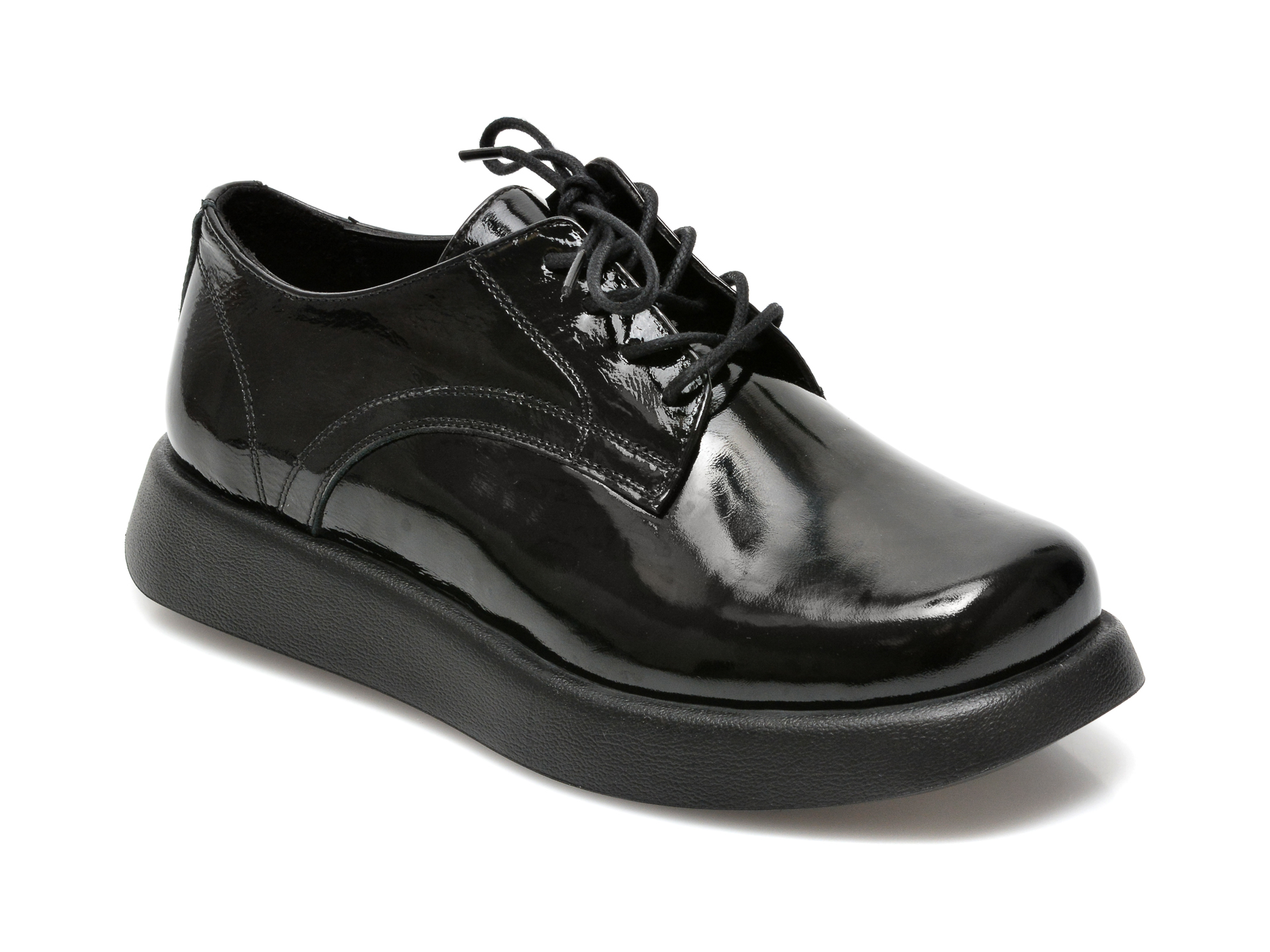Pantofi IMAGE negri, 6292544, din piele naturala lacuita imagine otter.ro 2021