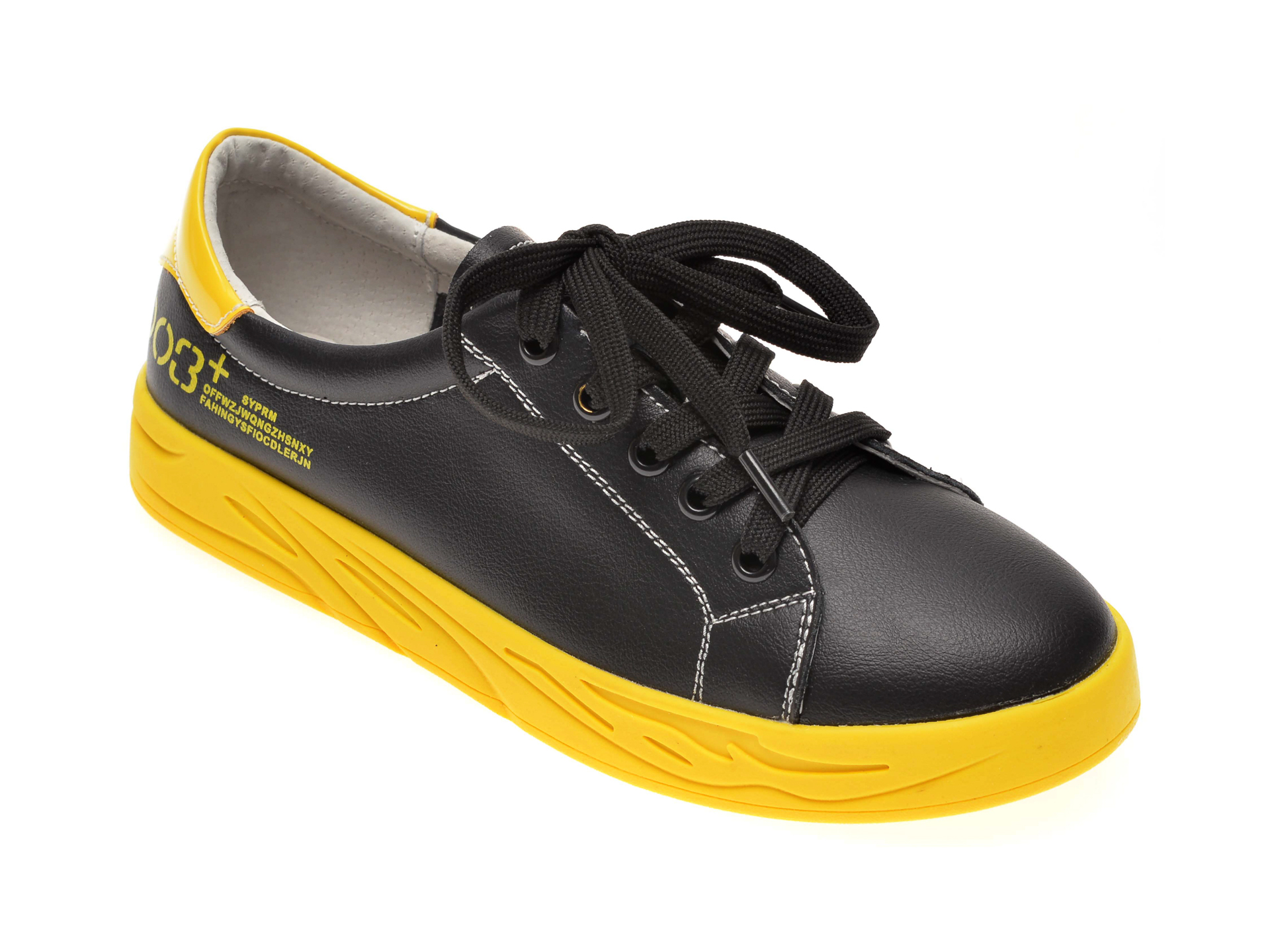 Pantofi IMAGE negri, 856001, din piele naturala imagine