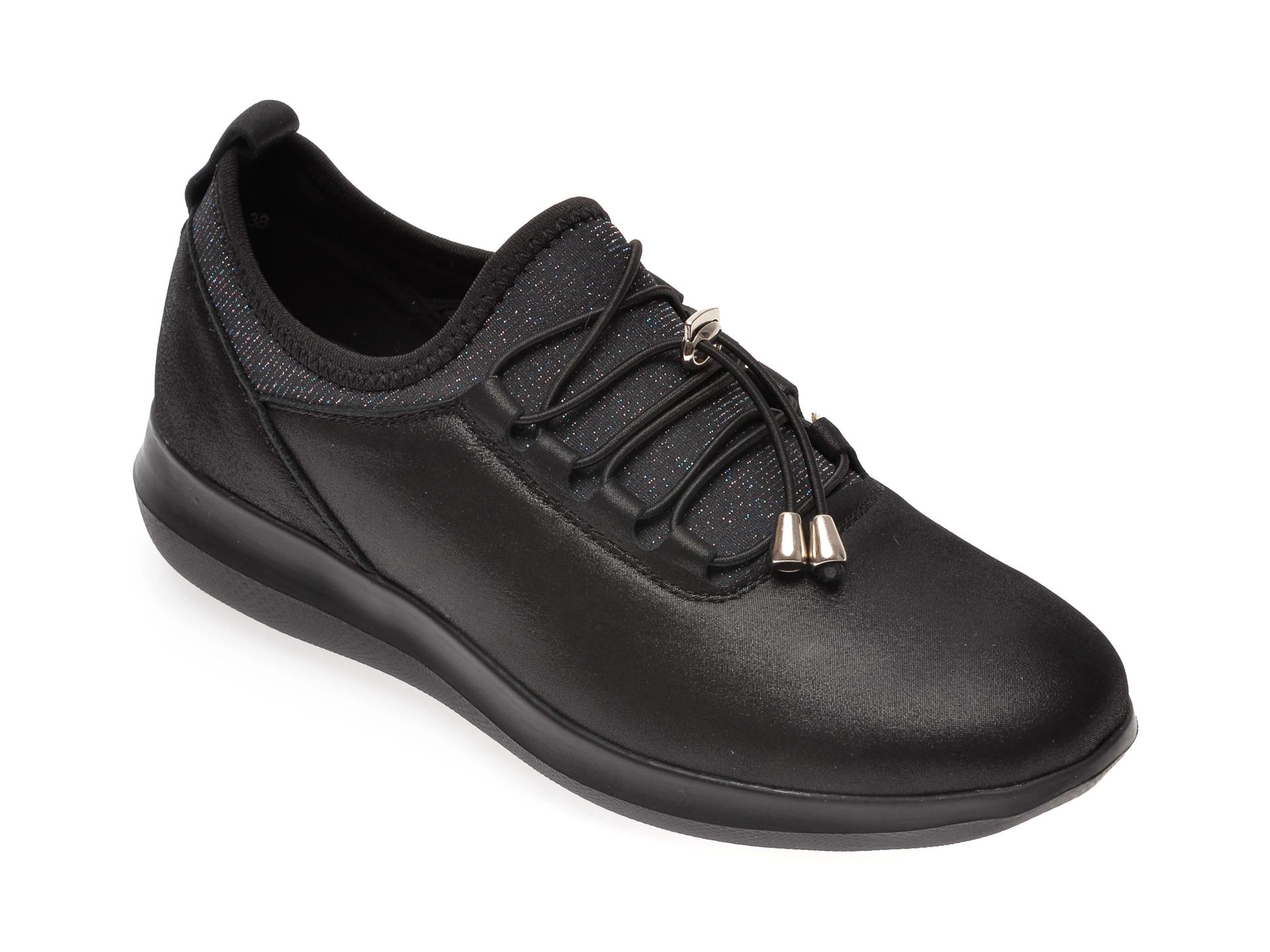 Pantofi IMAGE negri, 8595312, din material textil imagine