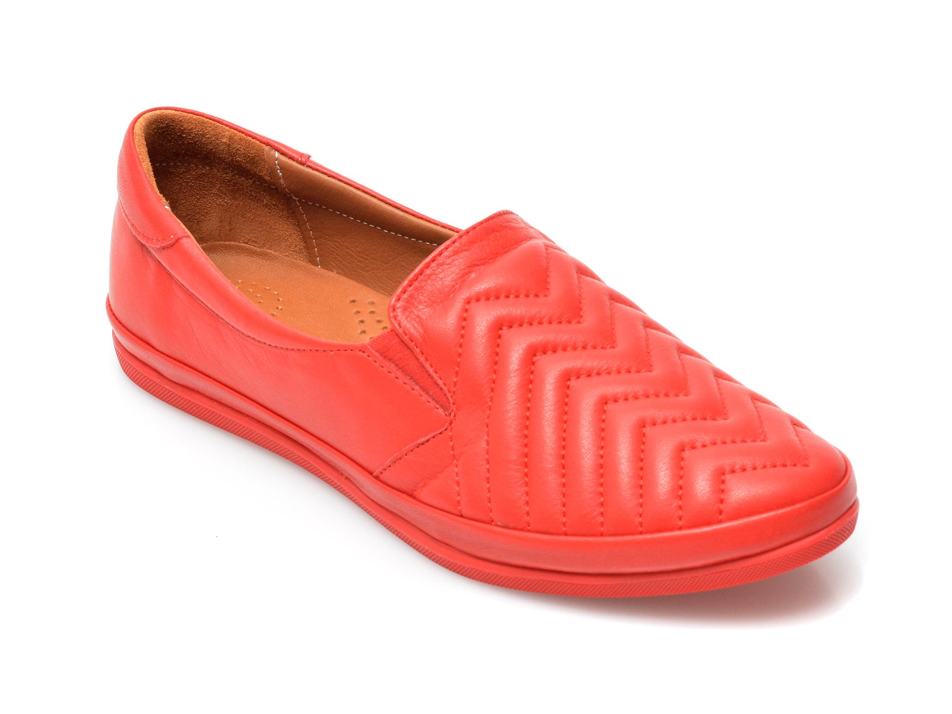 Pantofi IMAGE rosii, 120G01, din piele naturala imagine otter.ro 2021
