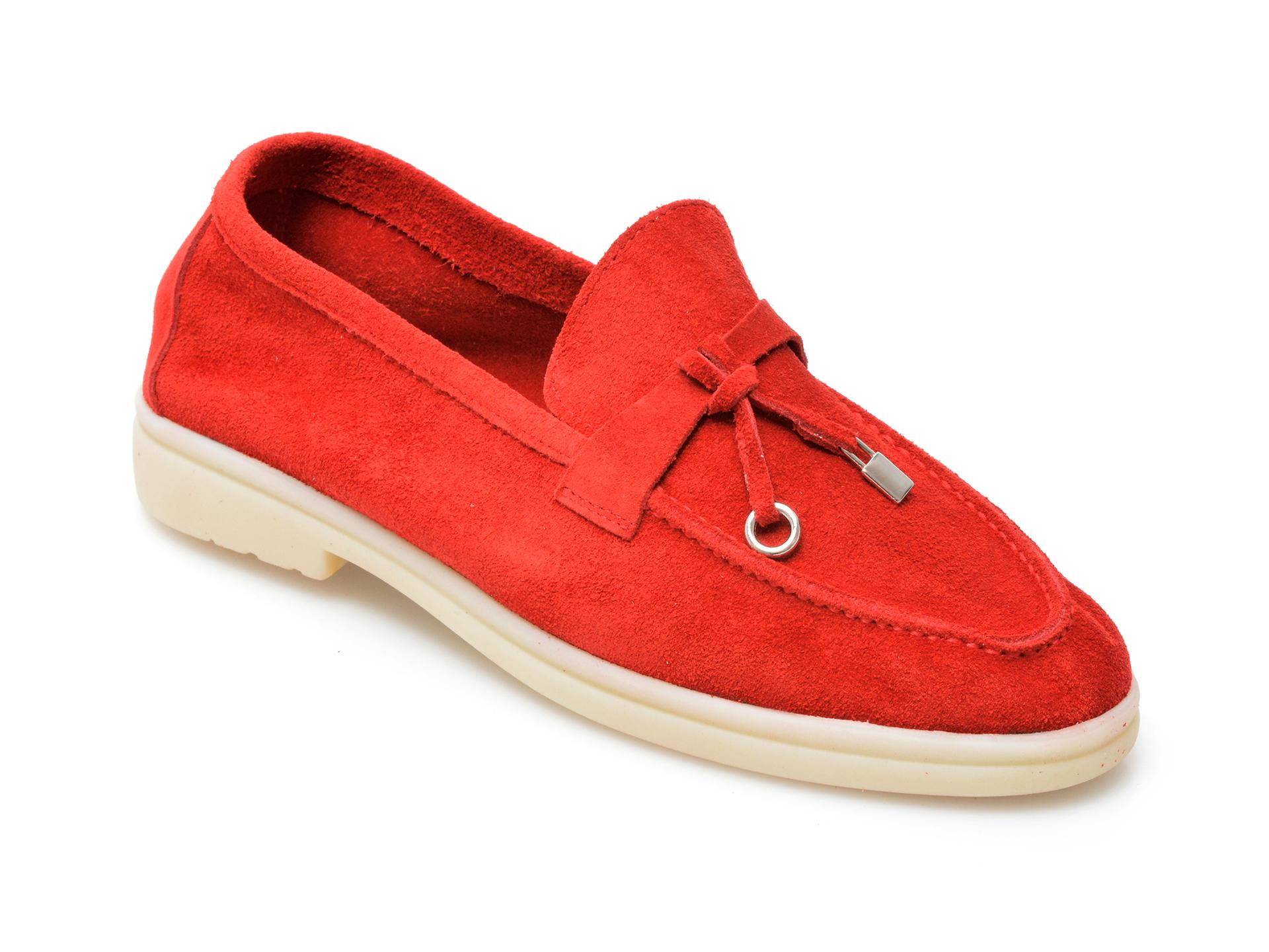 Pantofi IMAGE rosii, 205100, din piele intoarsa imagine otter.ro 2021