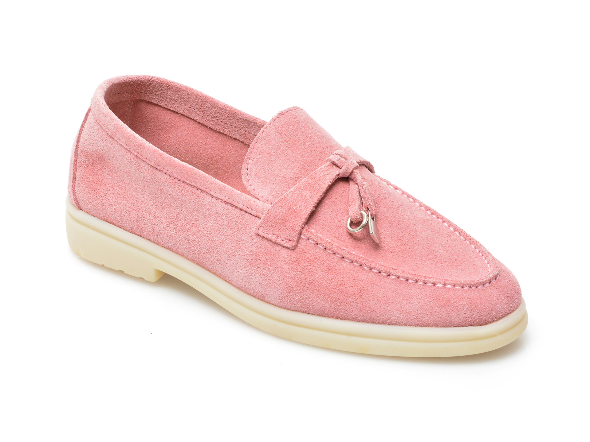 Pantofi IMAGE roz, 205100, din piele intoarsa imagine otter.ro 2021