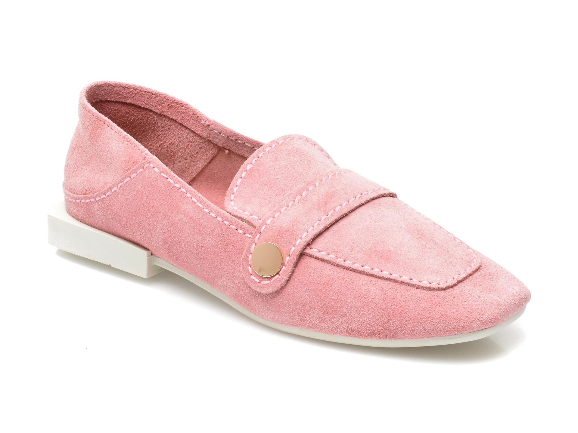 Pantofi IMAGE roz, 205101, din piele intoarsa imagine otter.ro 2021