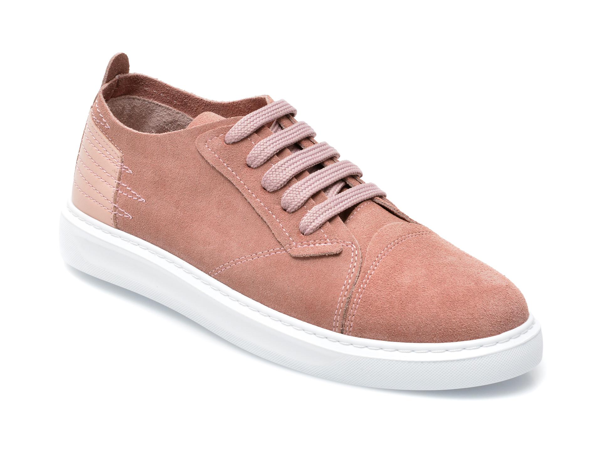 Pantofi IMAGE roz, 89081, din piele intoarsa imagine otter.ro