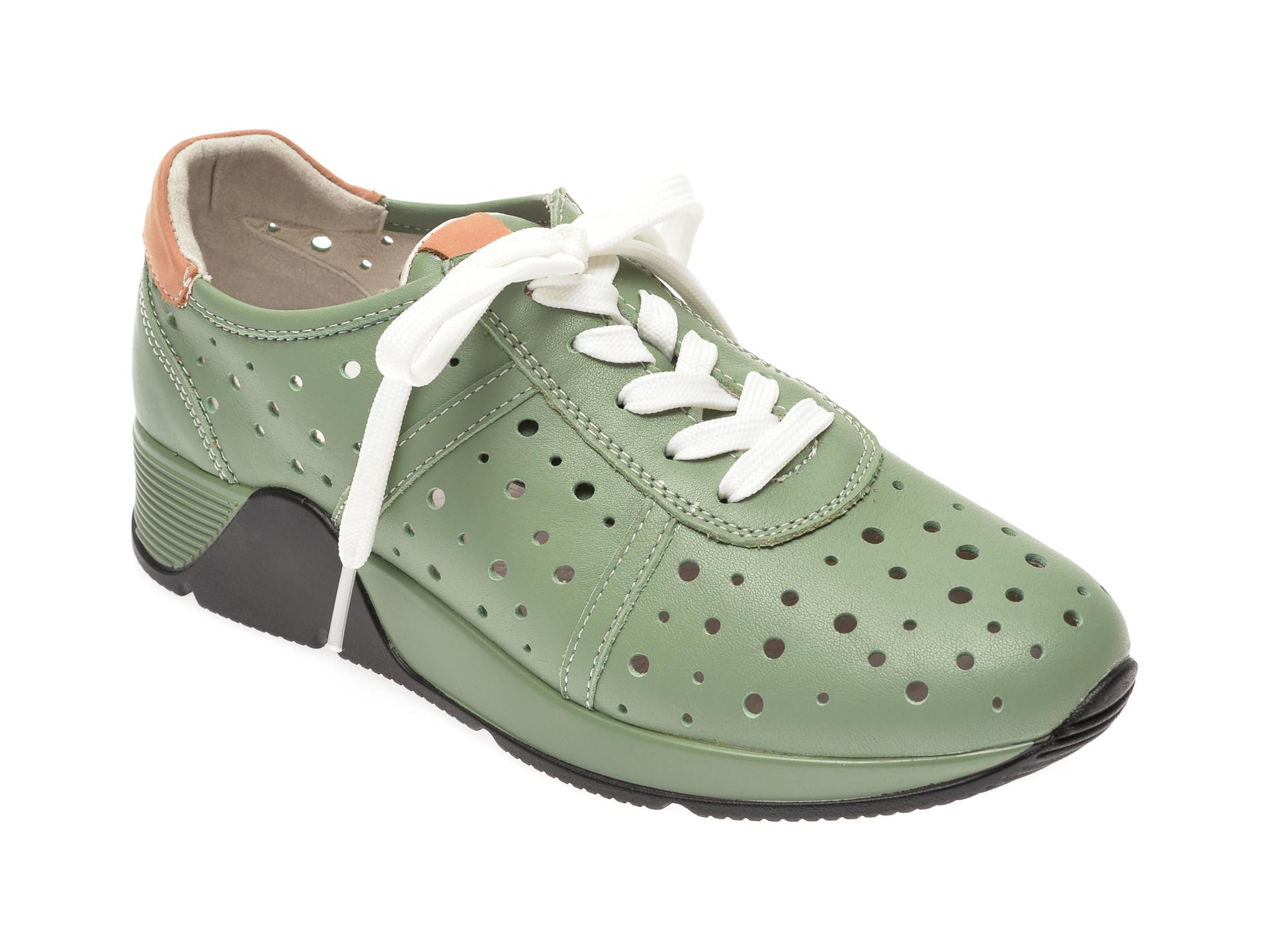 Pantofi IMAGE verzi, 8595395, din piele naturala