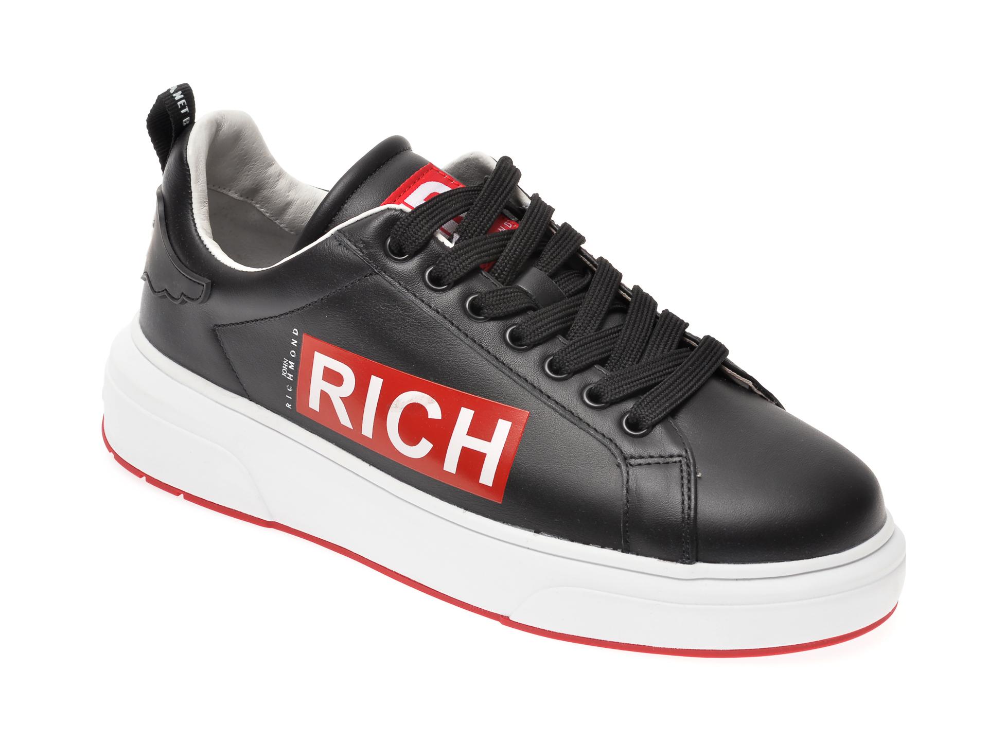 Pantofi JOHN RICHMOND negri, 1330, din piele naturala New