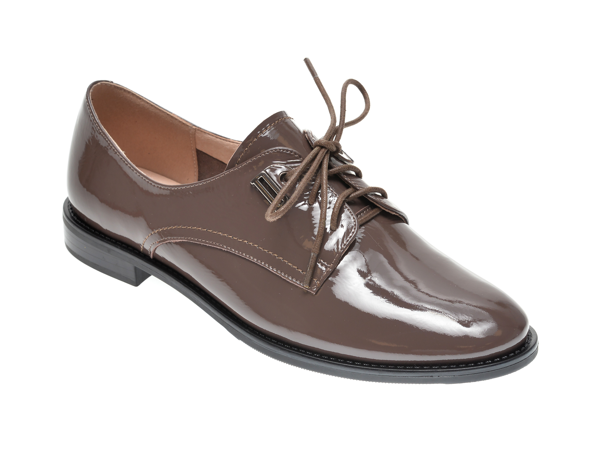 Pantofi KARISMA gri, H665301, din piele naturala lacuita