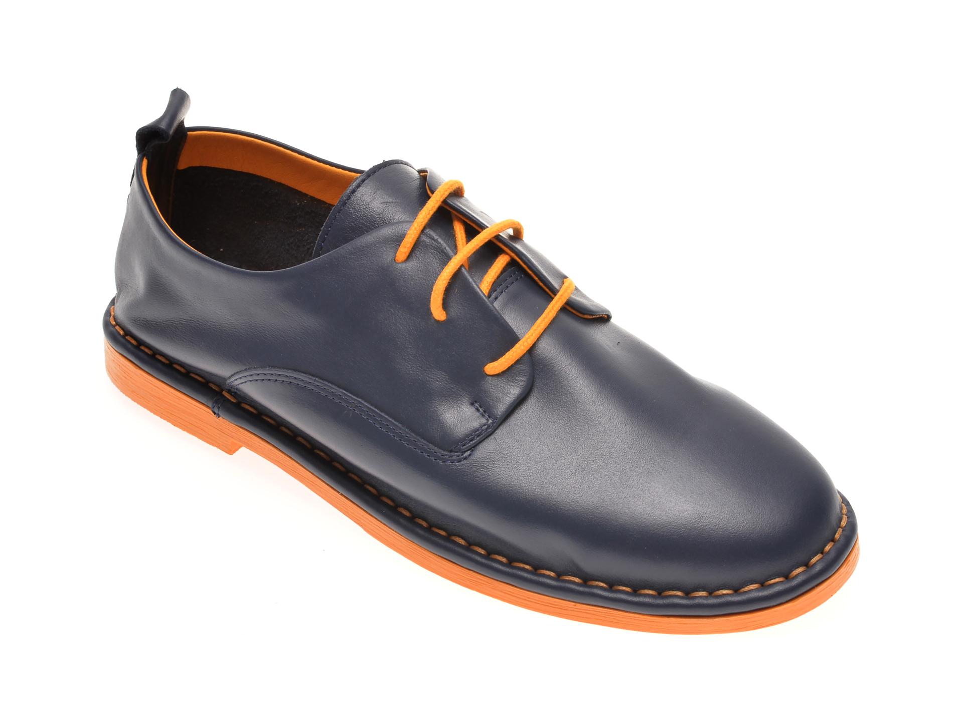 Pantofi LE BERDE albastri, 76200M5, din piele naturala