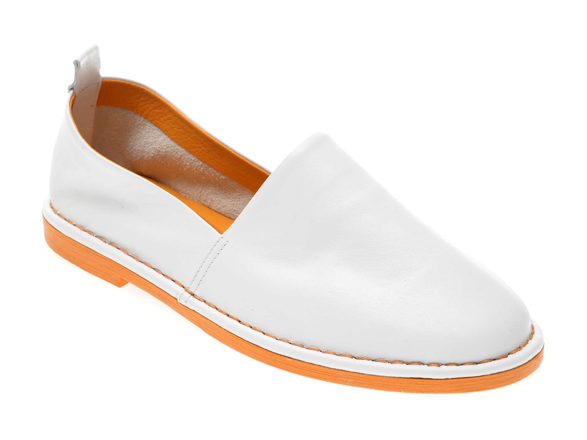 Pantofi LE BERDE albi, 6, din piele naturala New