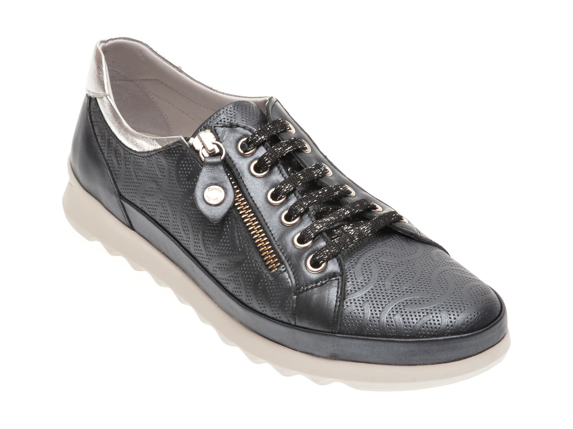 Pantofi LE BERDE bleumarin, 146FERM, din piele naturala