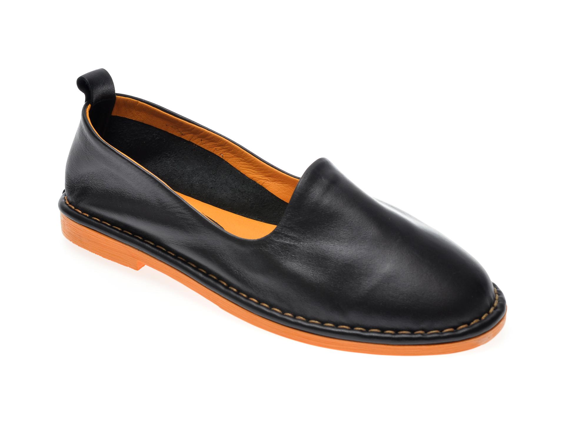 Pantofi LE BERDE negri, 12, din piele naturala imagine otter.ro 2021