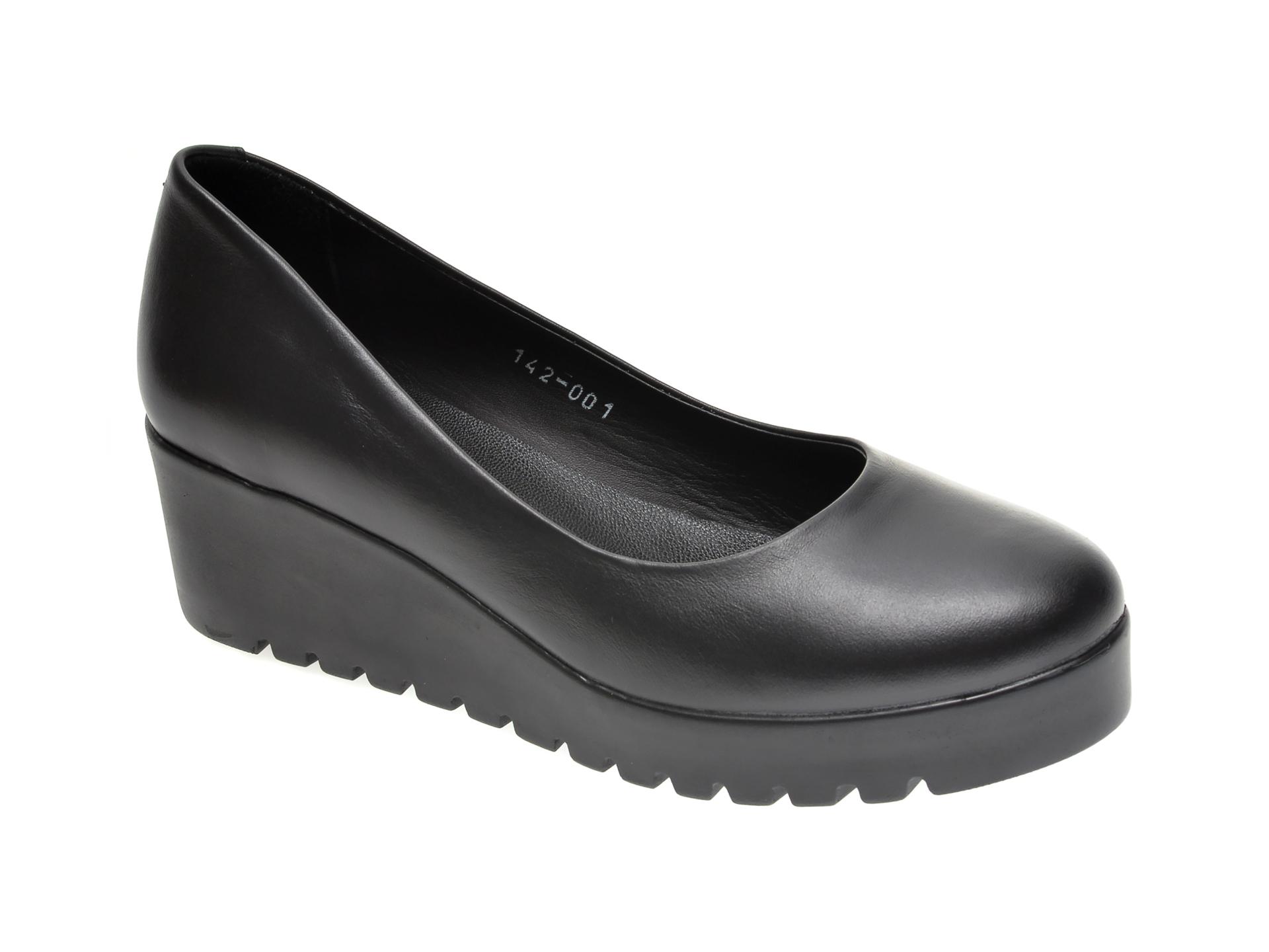 Pantofi LE BERDE negri, 1791420, din piele naturala imagine otter.ro 2021