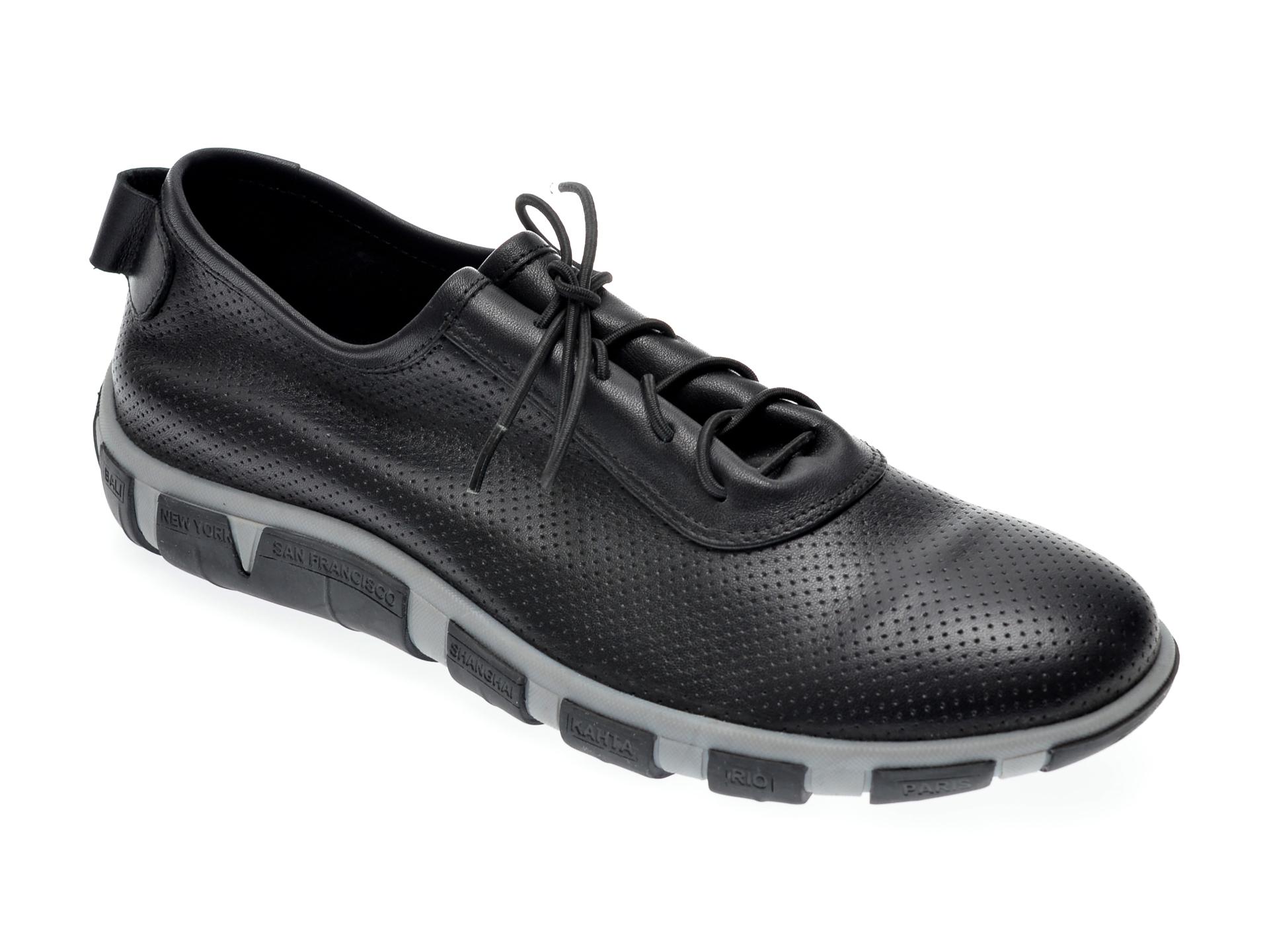 Pantofi Le Berde Negri, 52, Din Piele Naturala