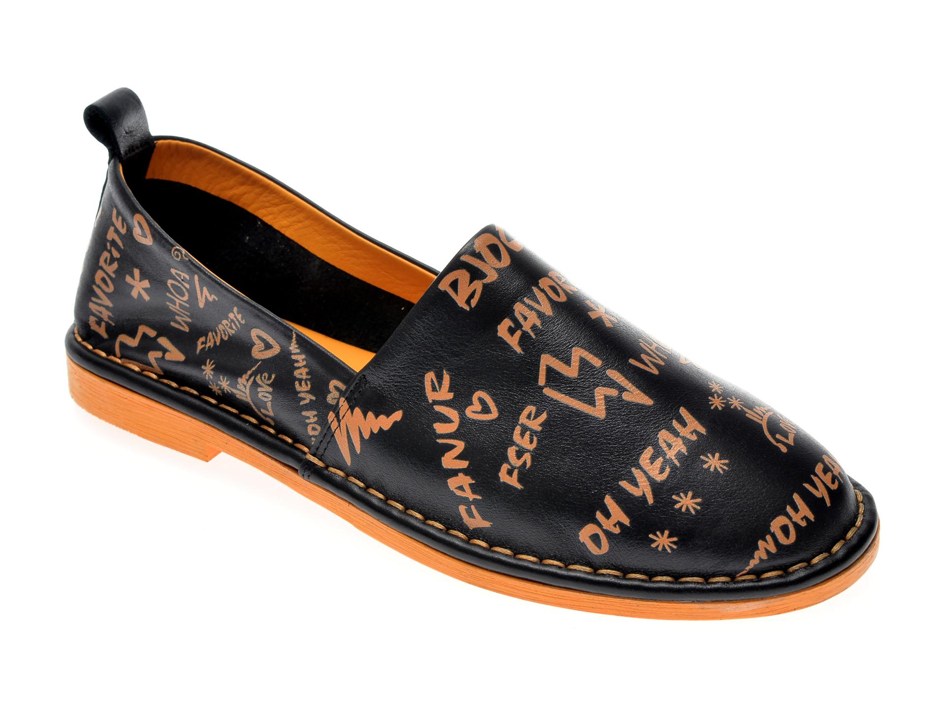 Pantofi LE BERDE negri, 6, din piele naturala imagine otter.ro